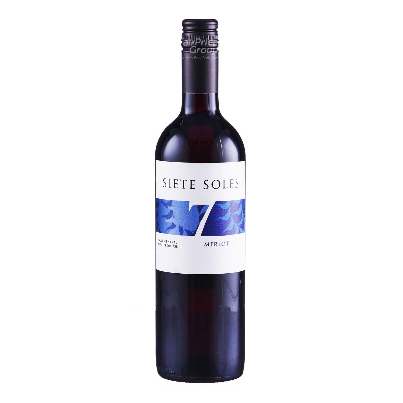 Siete Sole Red Wine - Merlot
