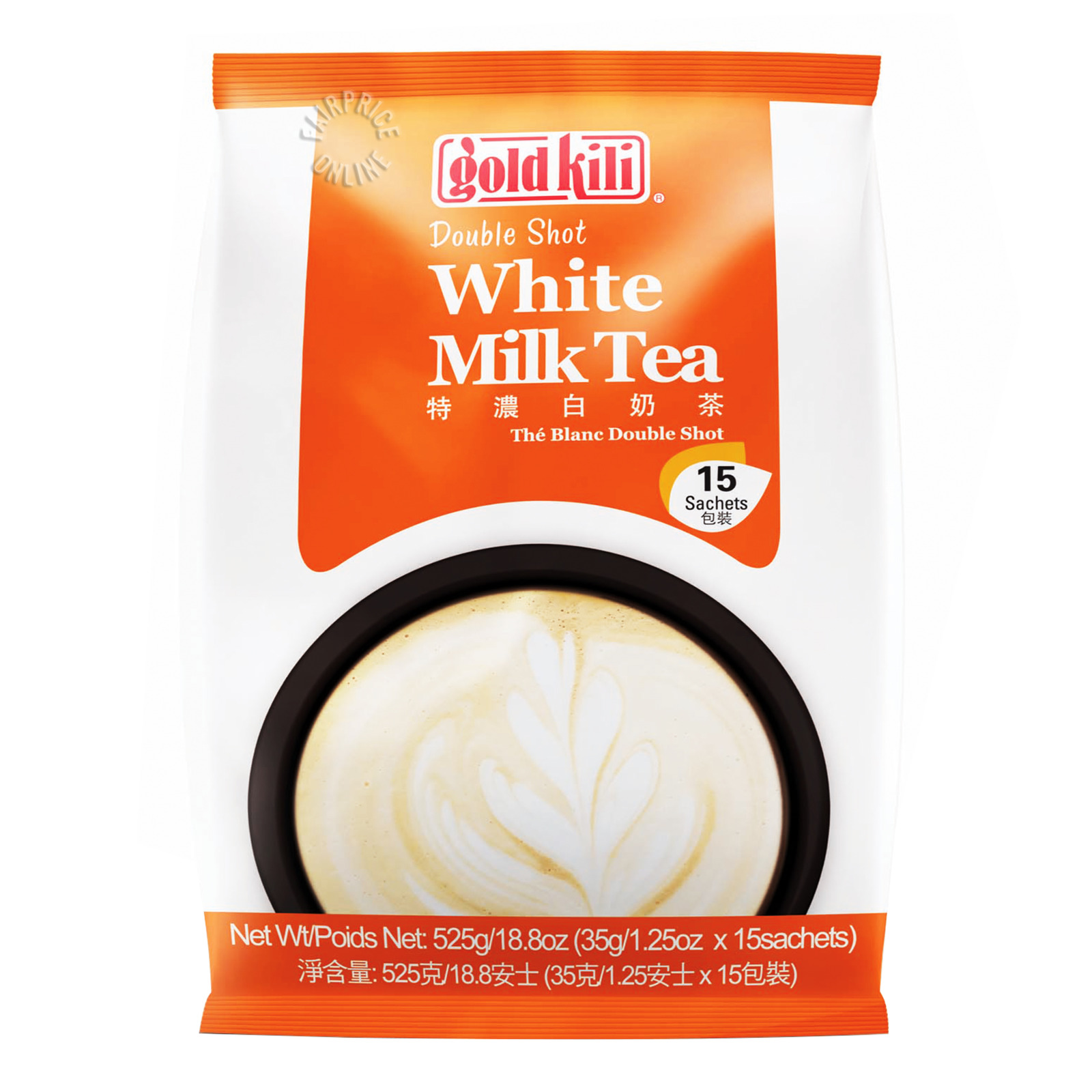 #Gold Kili Premium Instant White Milk Tea - Double Shot