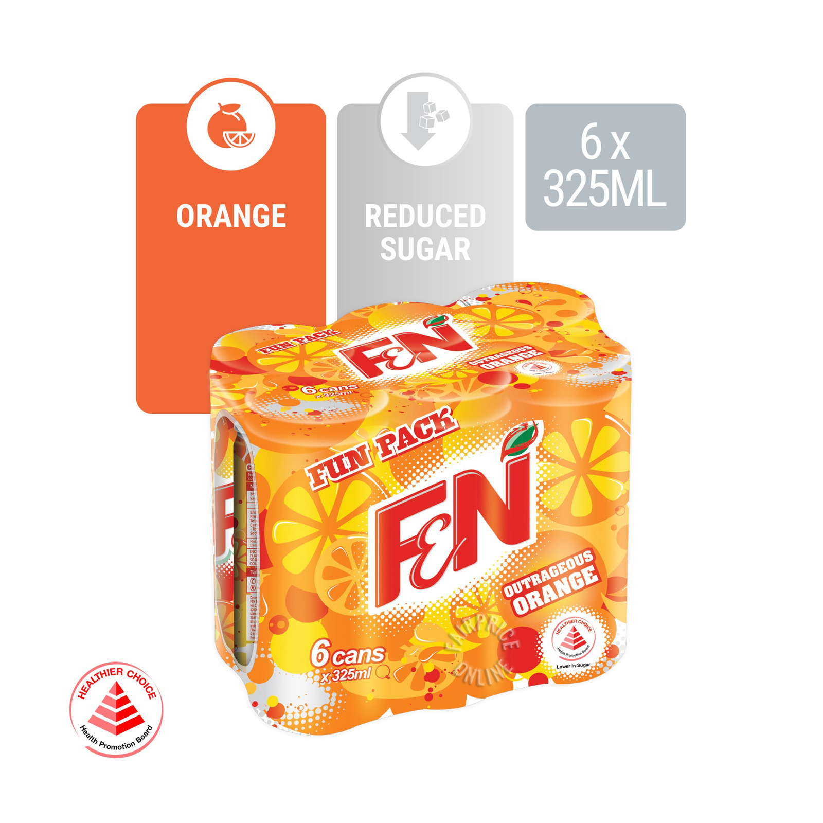 F&N Can Drink - Outragerous Orange (Fun Pack)