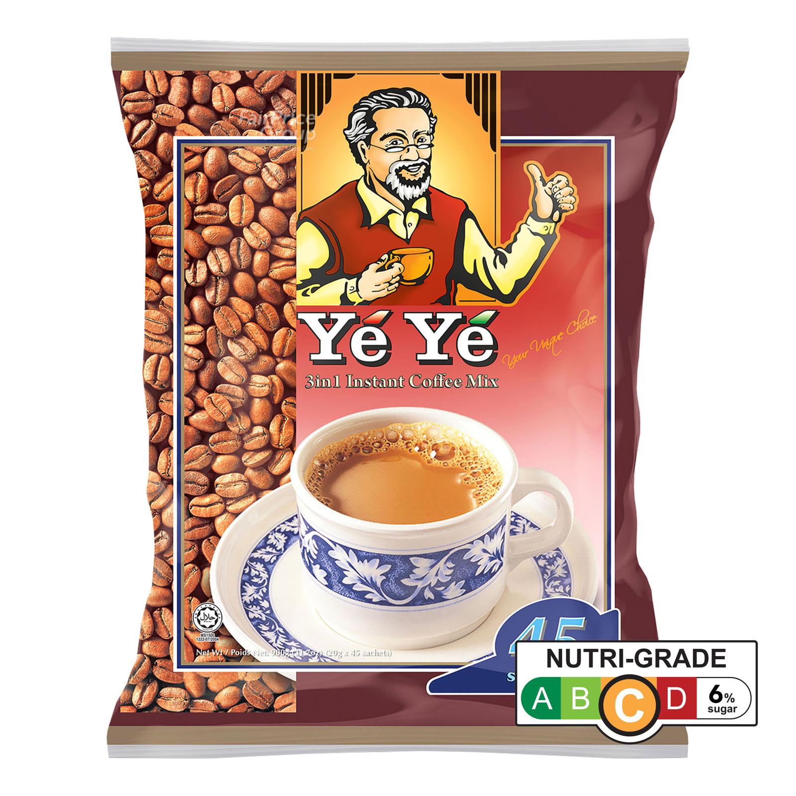 Ye Ye 3 in 1 Instant Coffee Mix - Regular