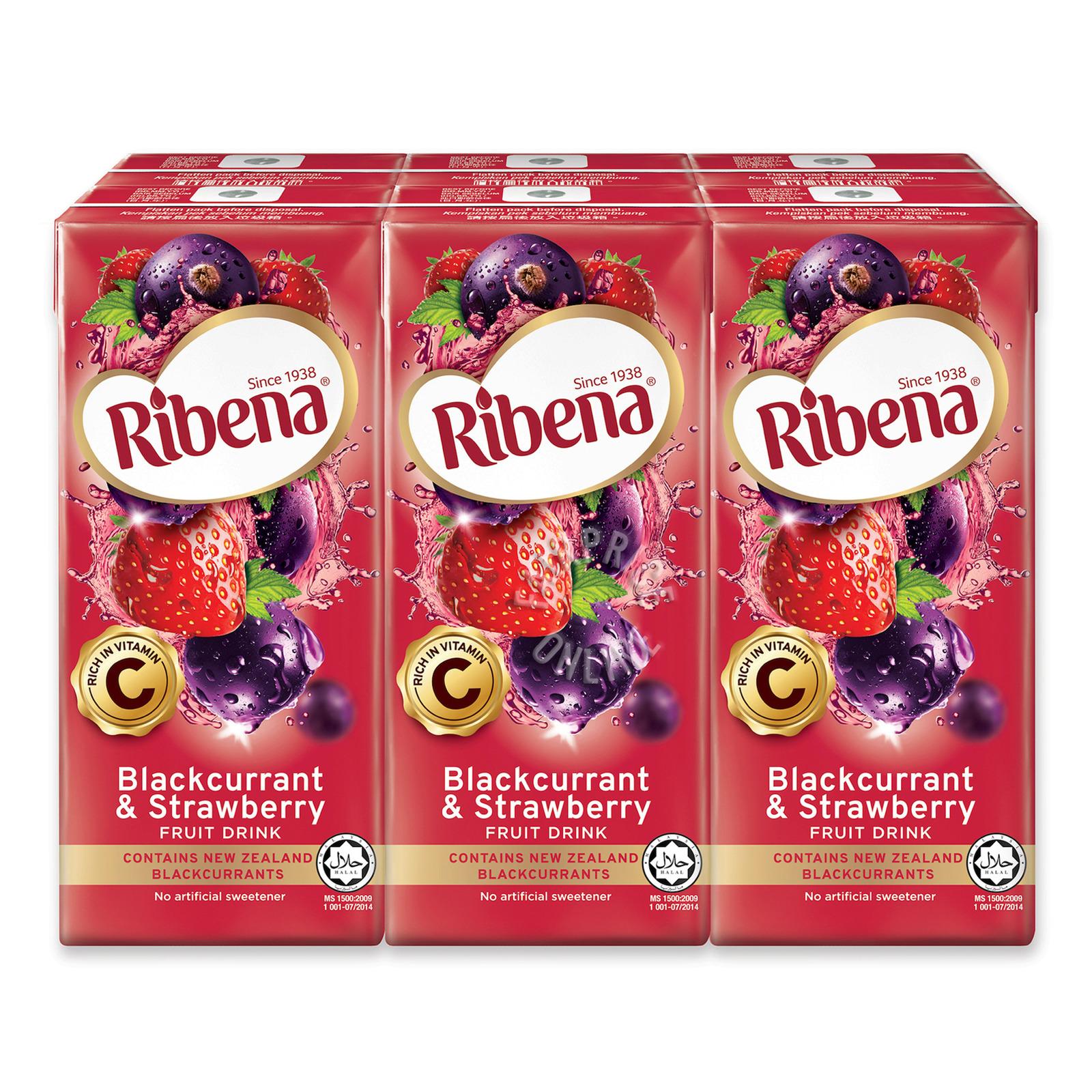 Ribena Blackcurrant Fruit Packet Drink - Strawberry
