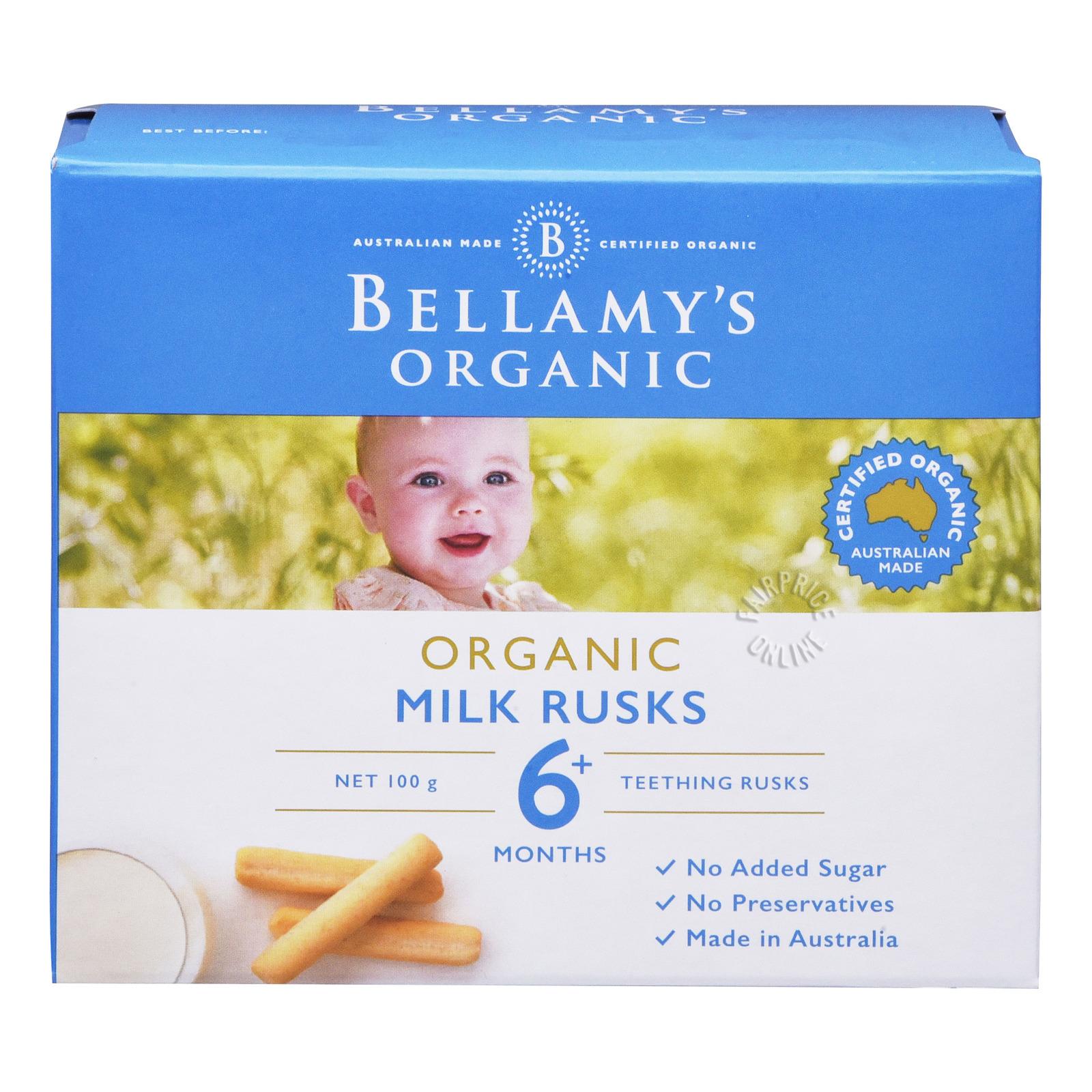 Bellamy's Organic Baby Milk Rusks