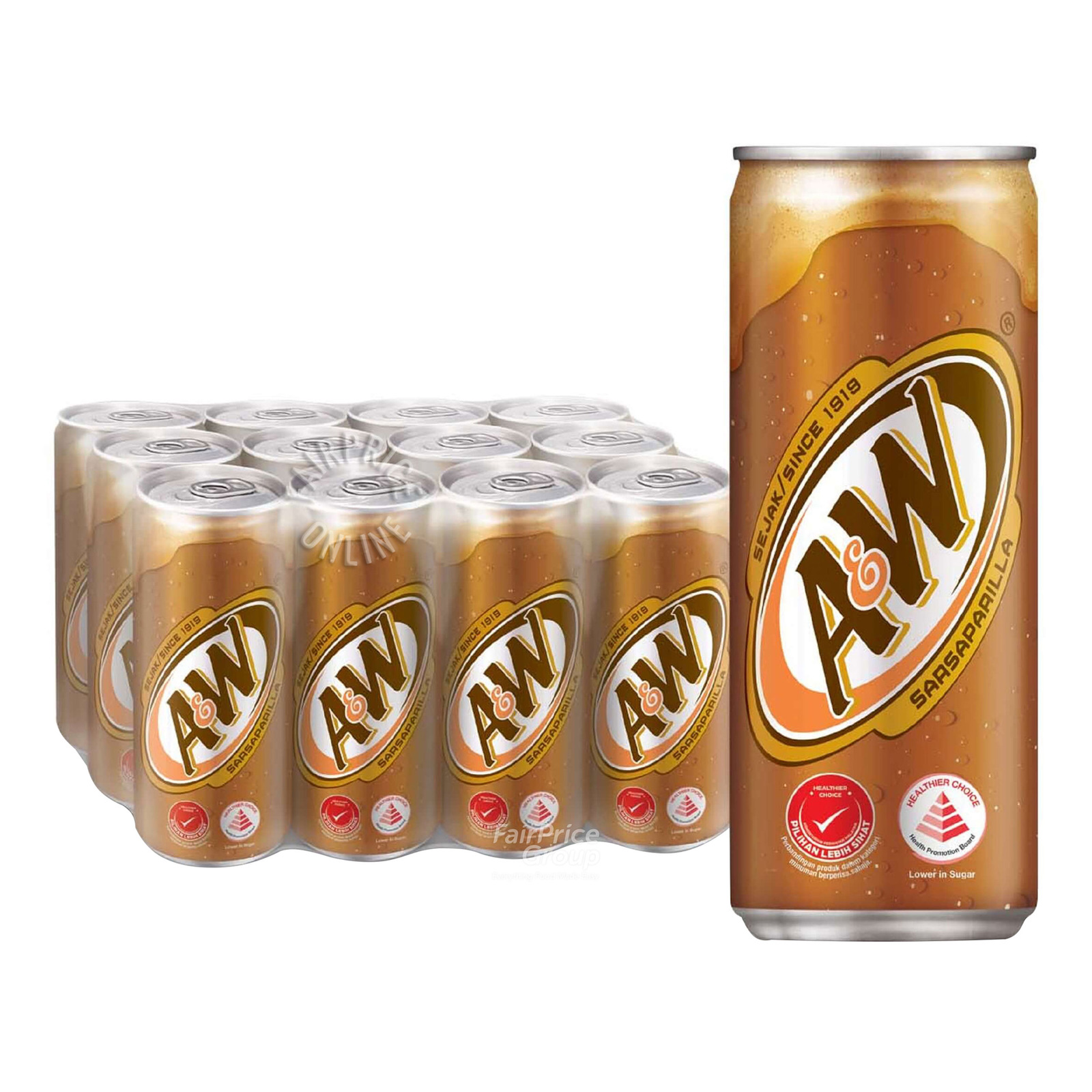 A&W Sarsaparilla Root Beer (12 x 320ml) - Case