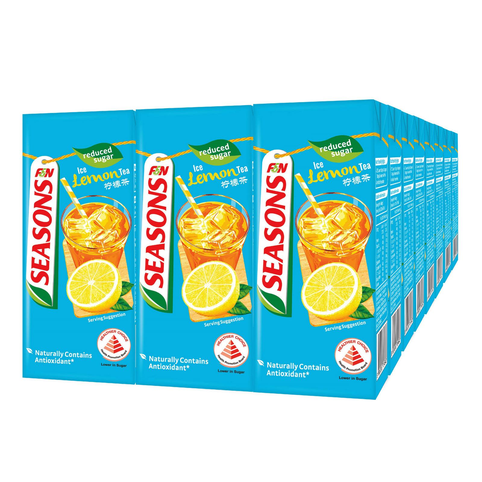 F&N Seasons Packet Drink-Ice Lemon Tea(Reduced Sugar)