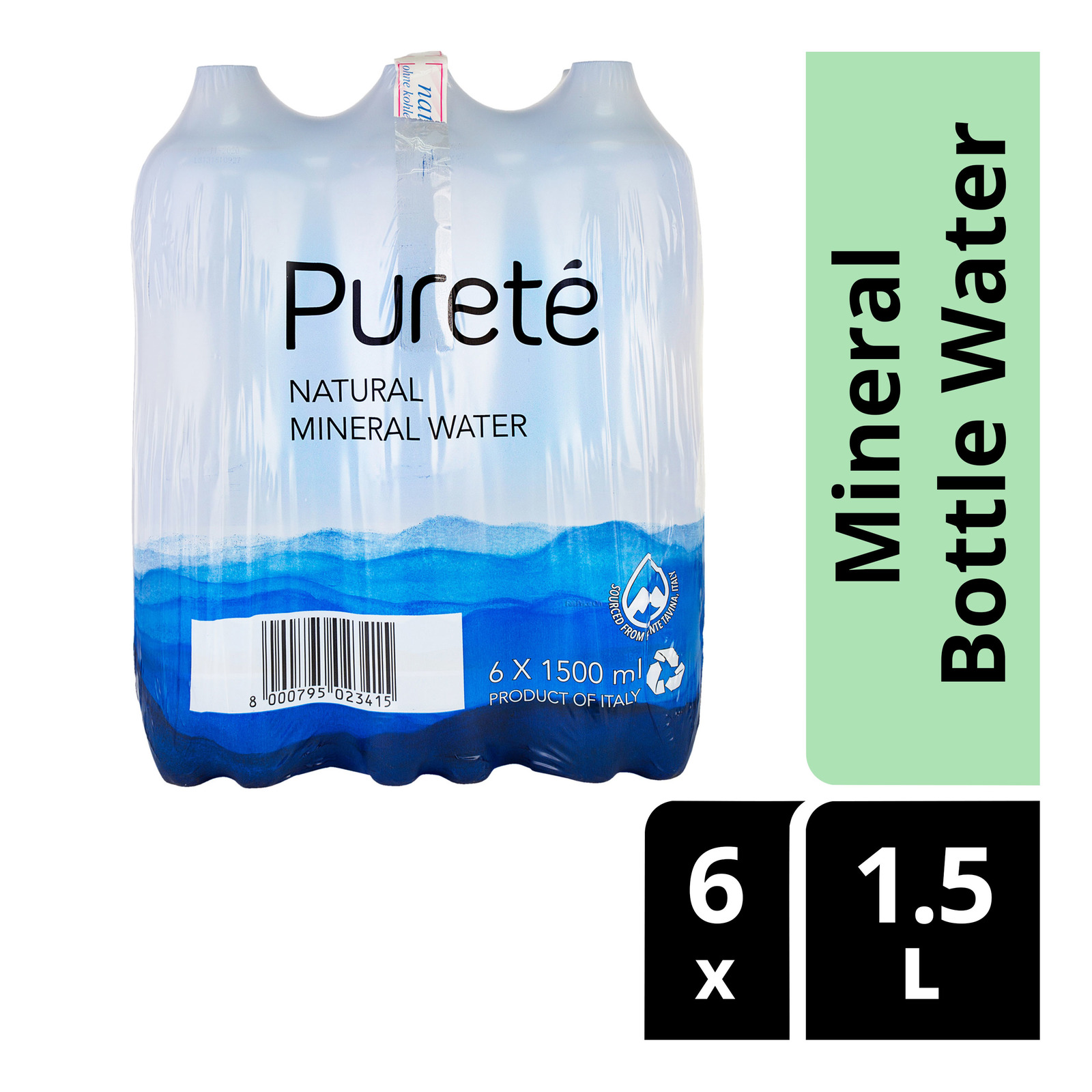 Purete Natural Mineral Bottle Water