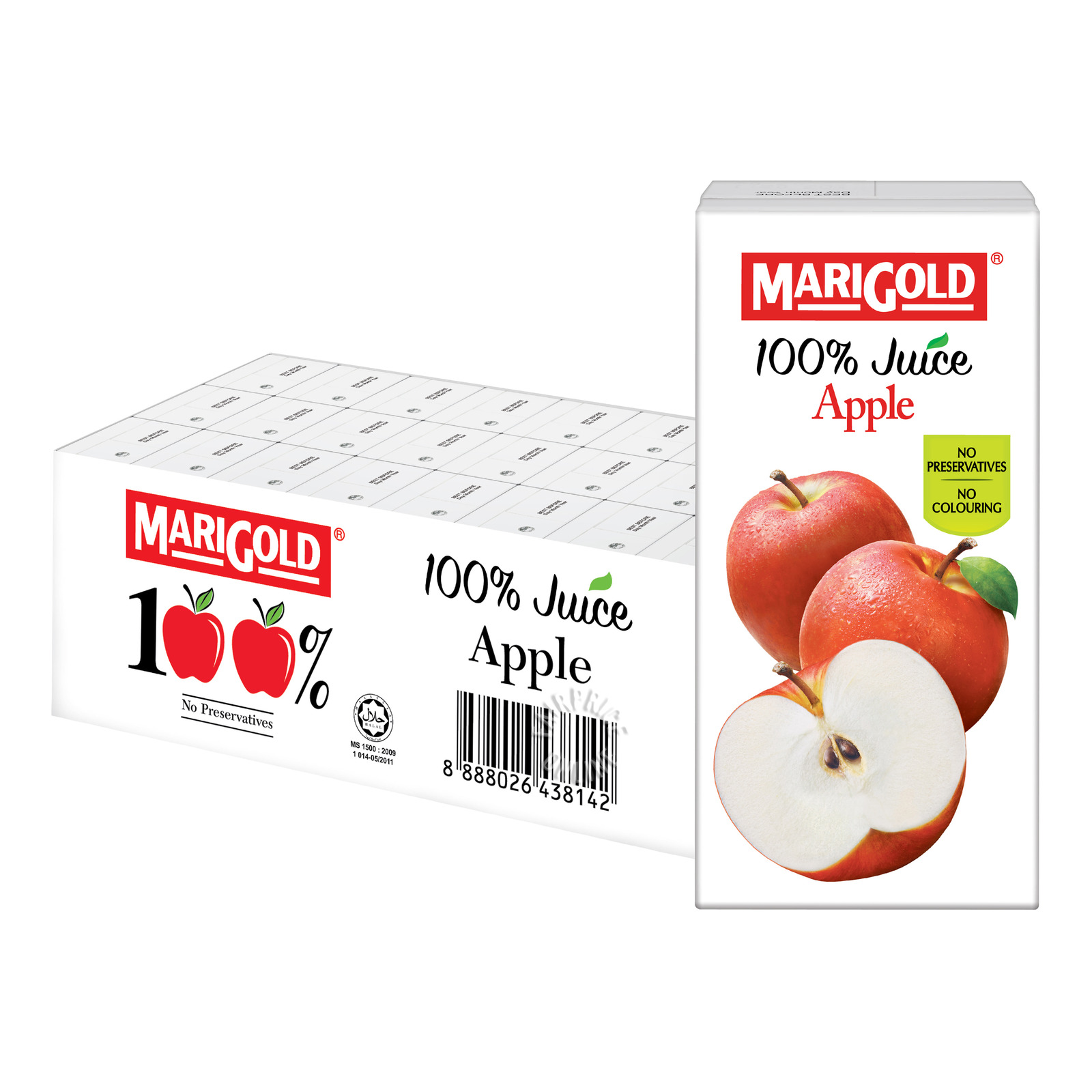 MARIGOLD 100% Juice Apple 24sX200ml