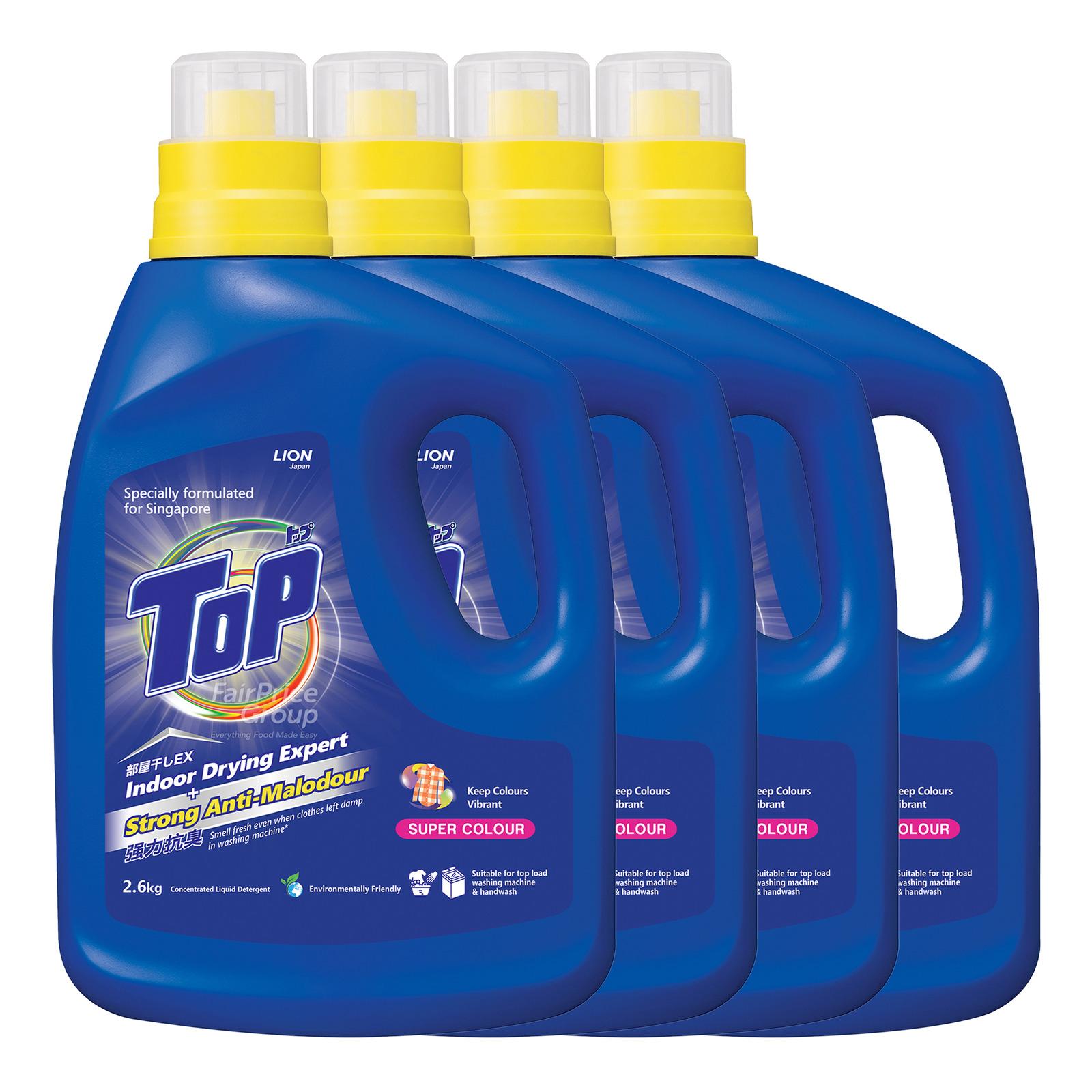 Top Concentrated Liquid Detergent Bottle-Super Colour