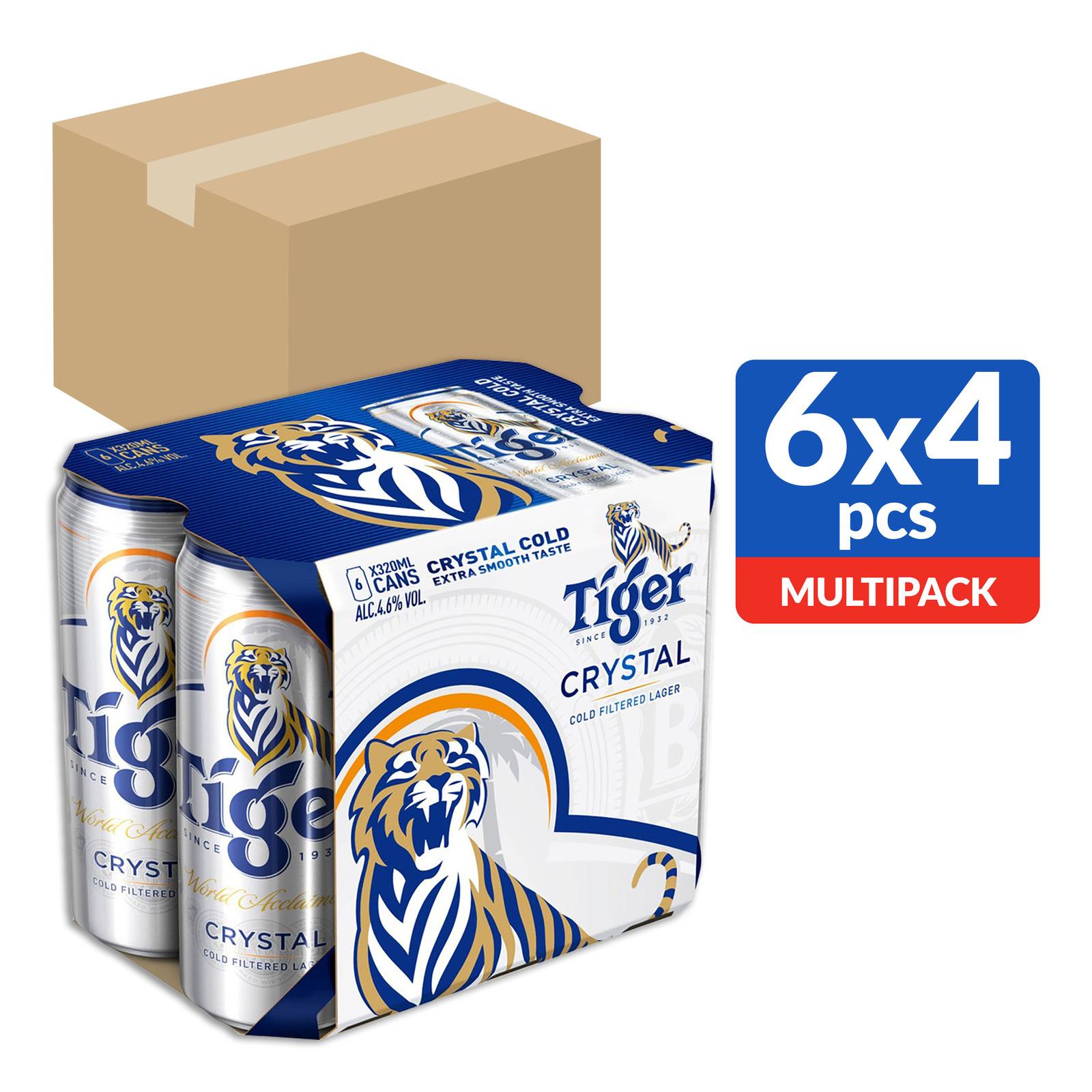 Tiger Crystal Beer Can 24x320ml