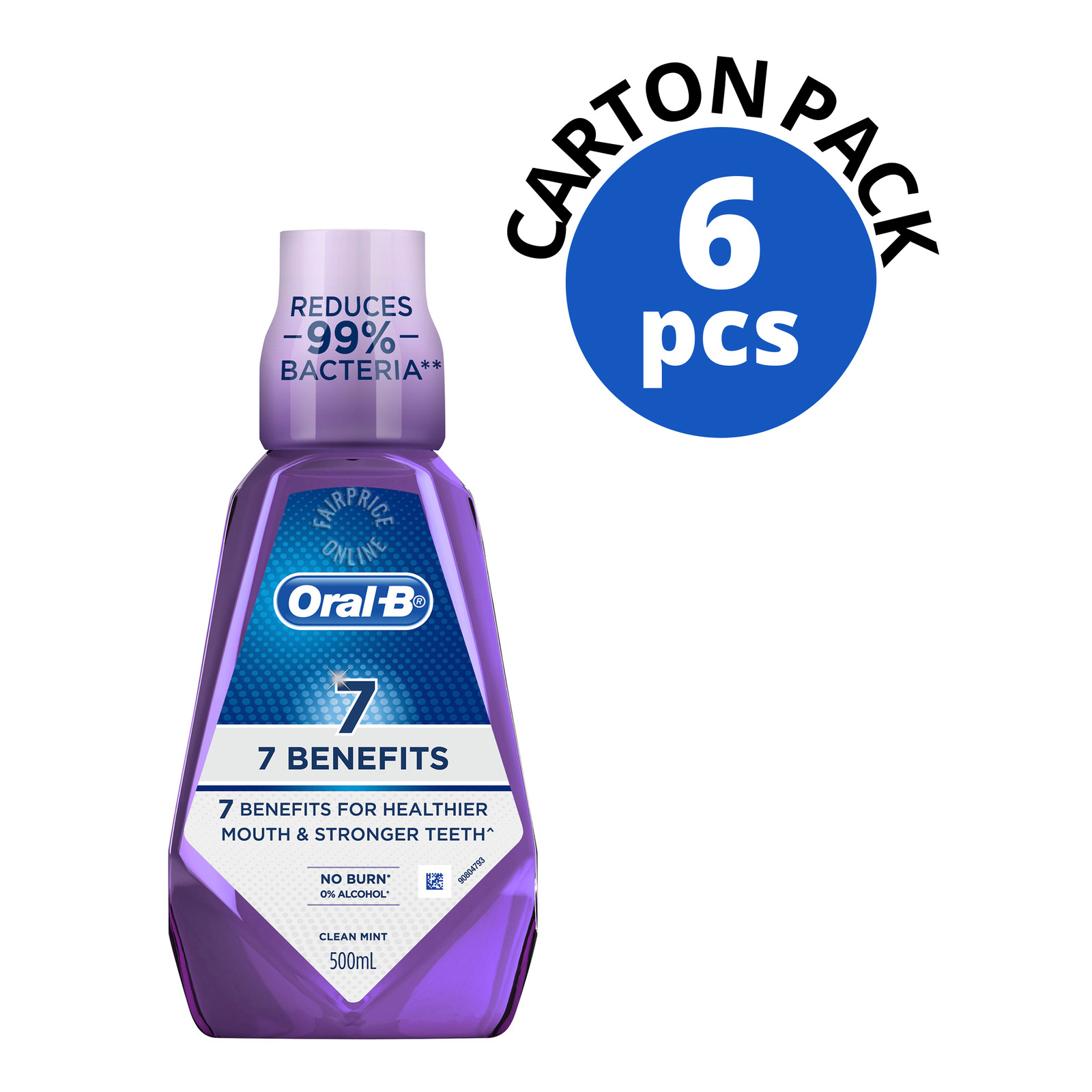 Oral-B 7 Benefits Mouthwash - Clean Mint