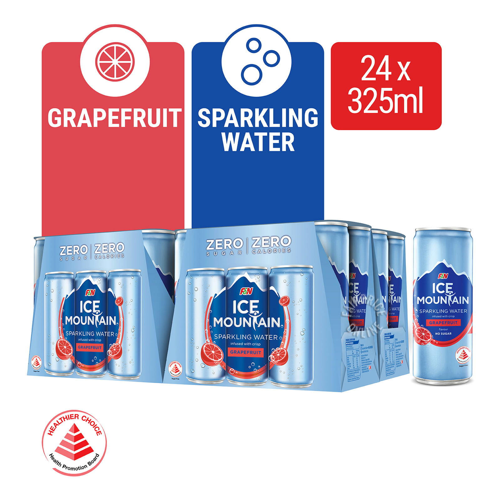 F&N Ice Mountain Sparkling Can Water - Grapefruit