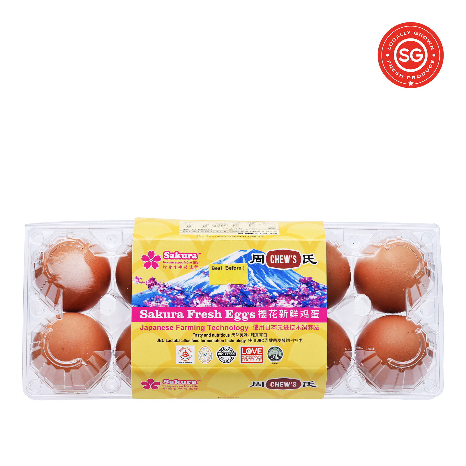 Chew's Fresh OMEGA6 Fresh Eggs 10S 550G