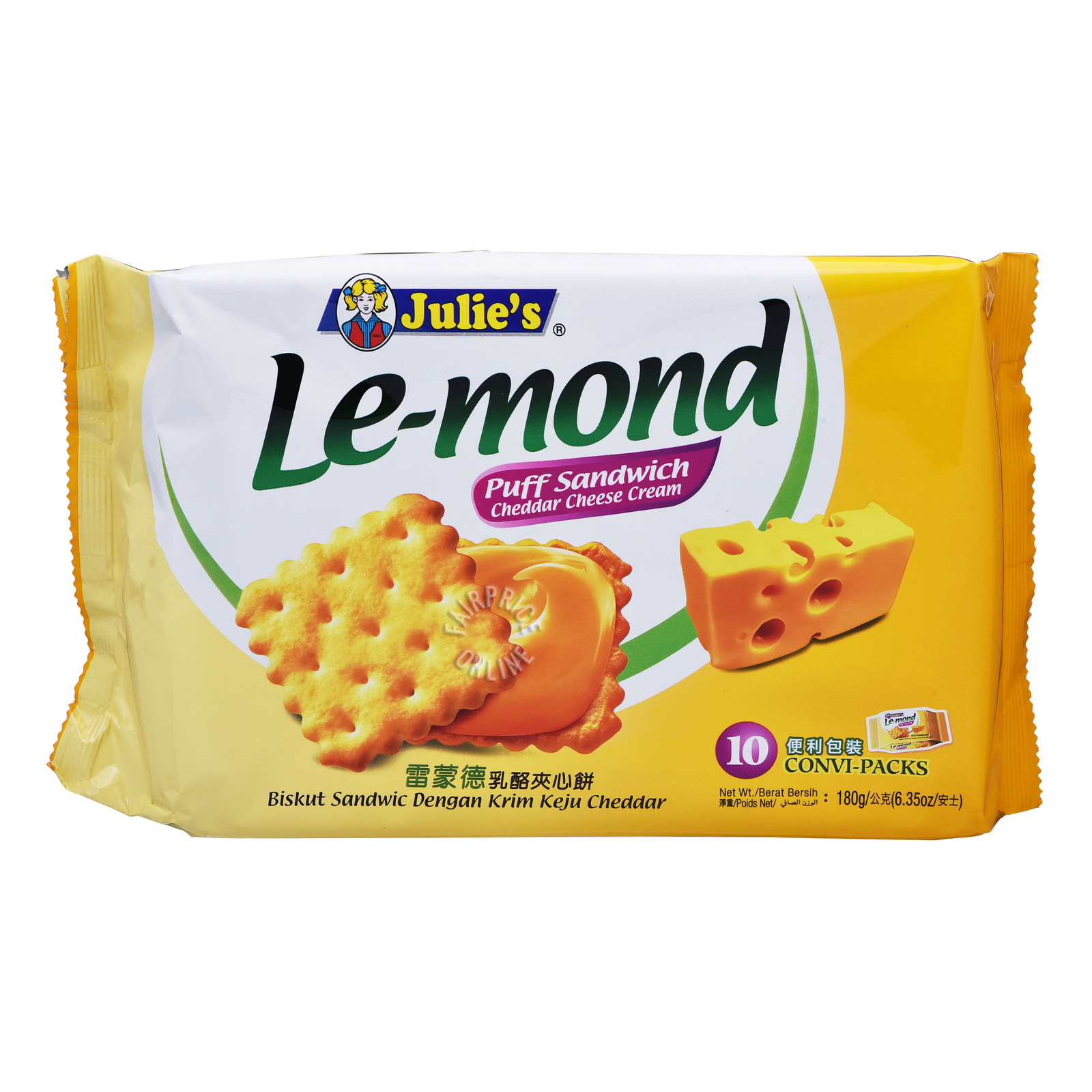 Julie's Le-Mond Sandwich Biscuits - Cheddar Cheese
