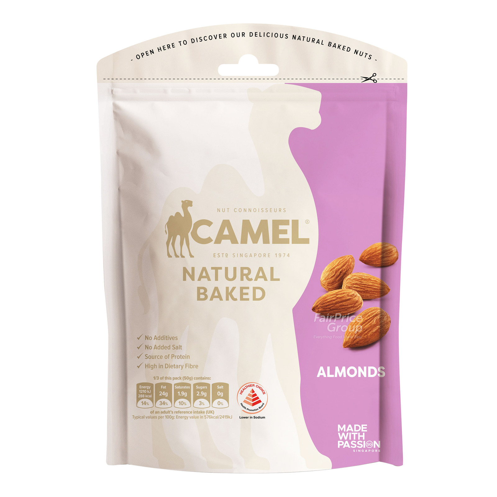 Camel Natural Baked Almonds
