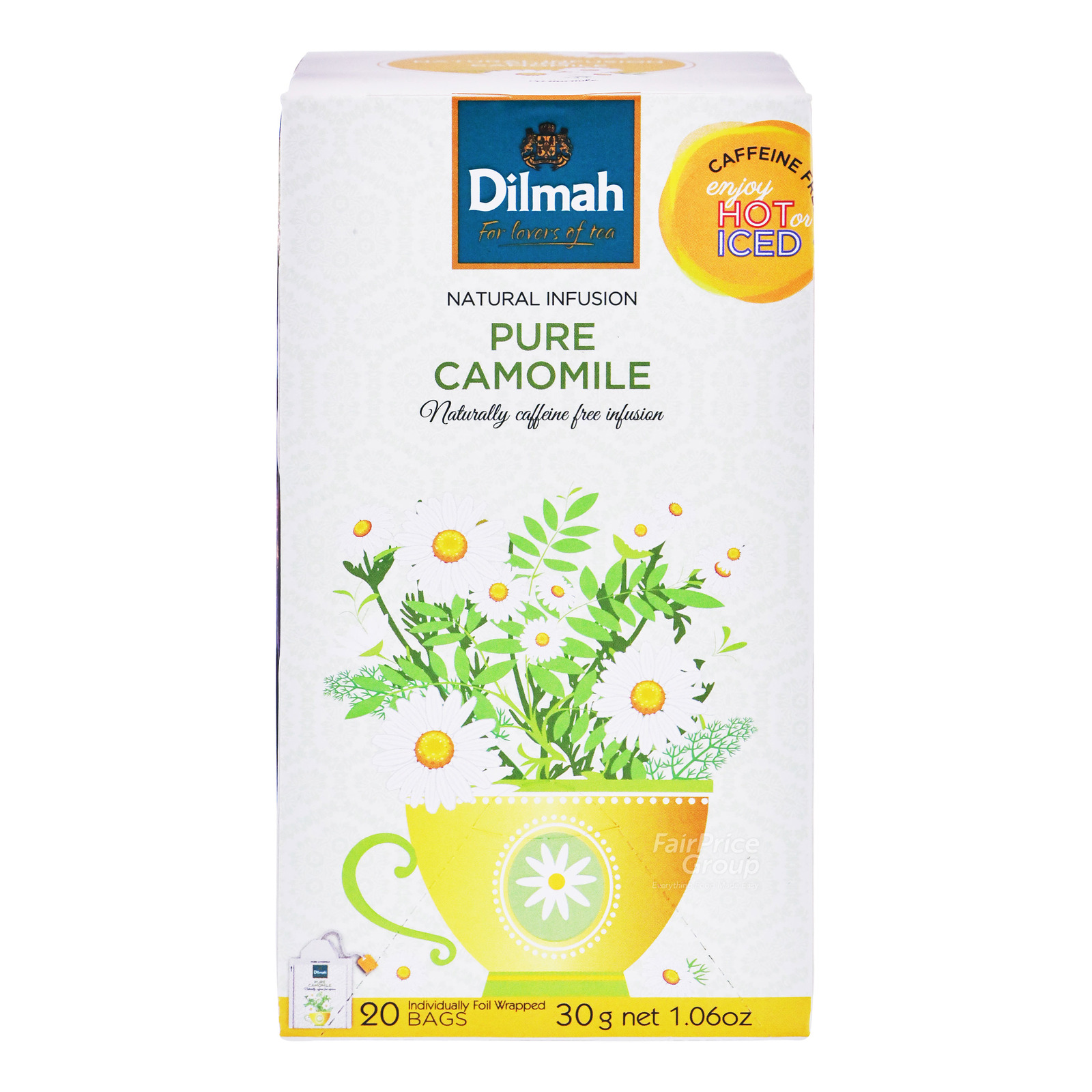 DILMAH Tea Bags - Pure Camomile Flowers 20sX1.5g