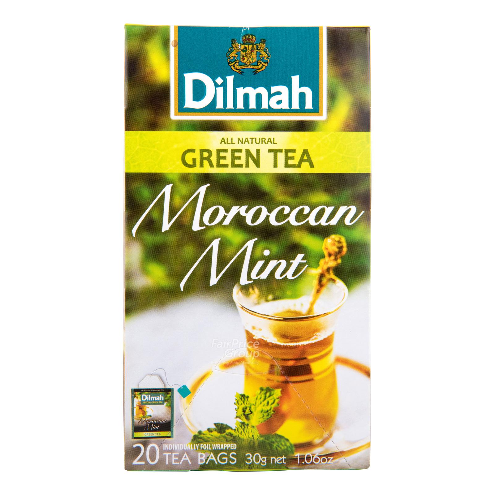 Dilmah Pure Ceylon Tea Bags - Moroccan Mint (Green Tea)