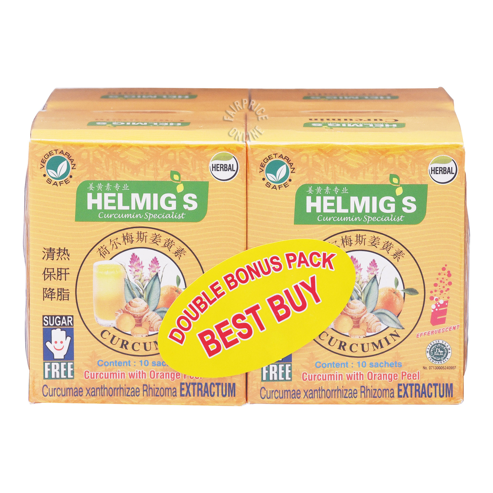 Helmig's Curcumin Sachets - Orange Peel