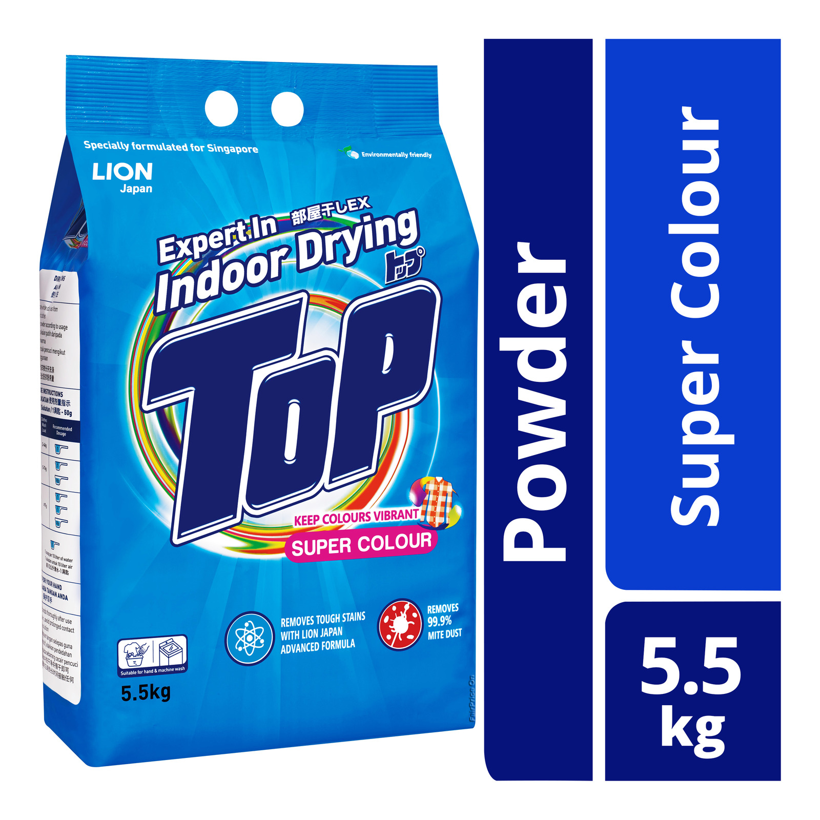 TOP Powder Detergent - Super Colour 5.5kg