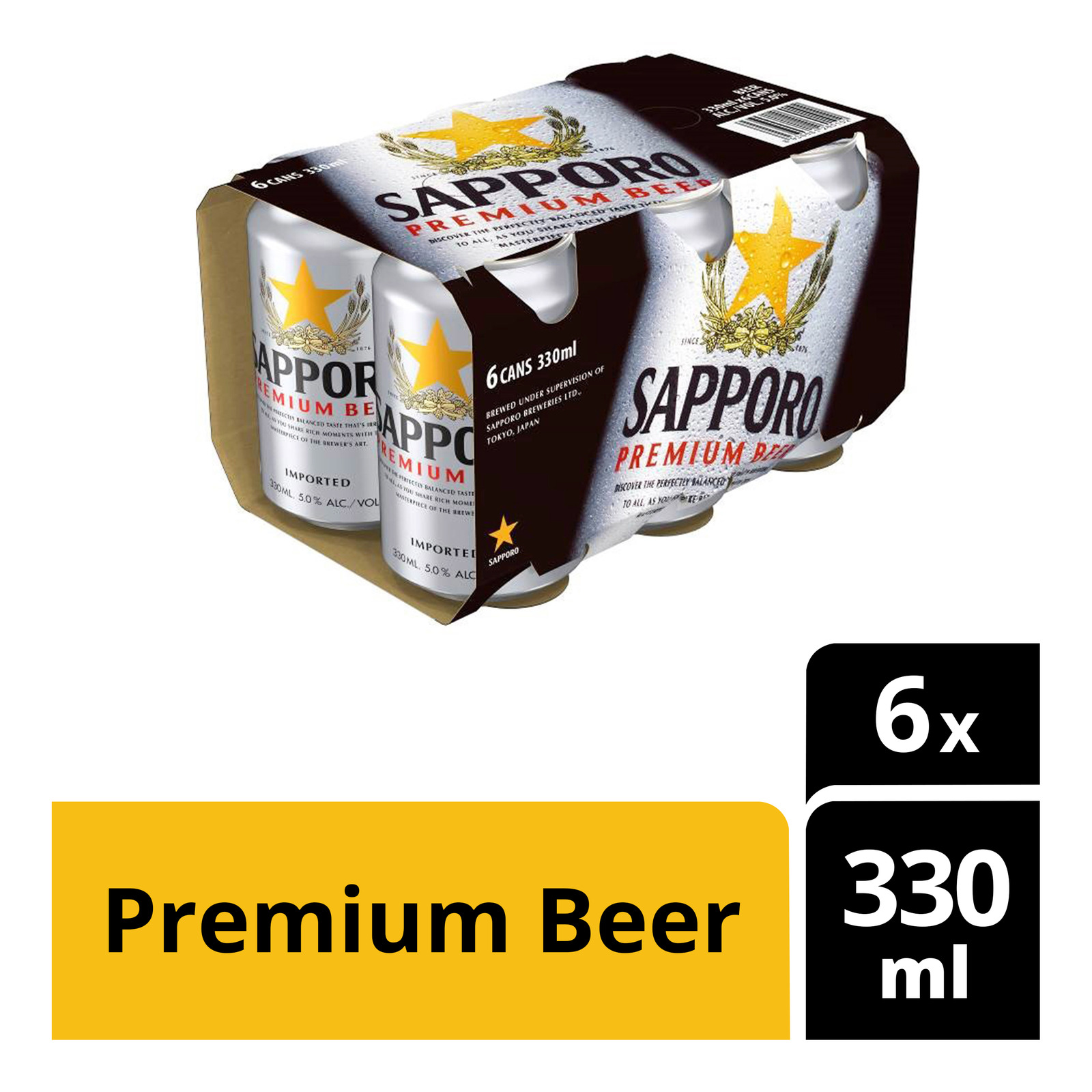 Sapporo Premium Can Beer