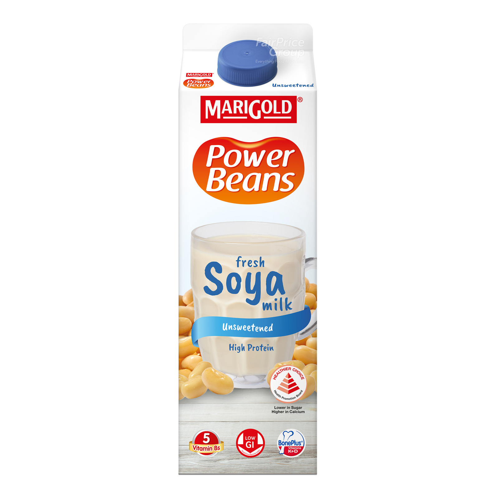 Marigold Power Beans Fresh Soya Milk - Unsweetened