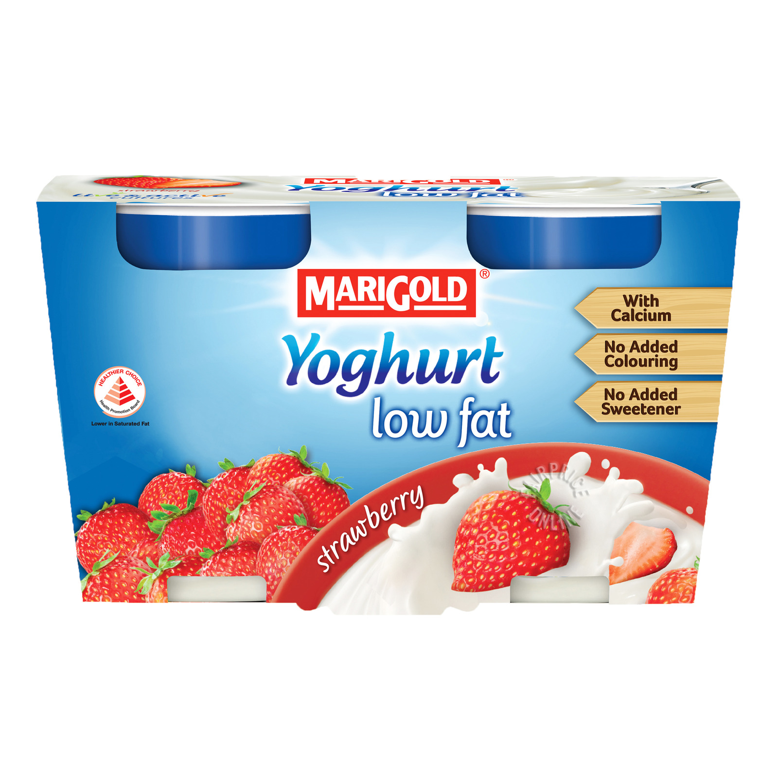 MARIGOLD Yoghurt Low Fat Strawberry 2sX130g