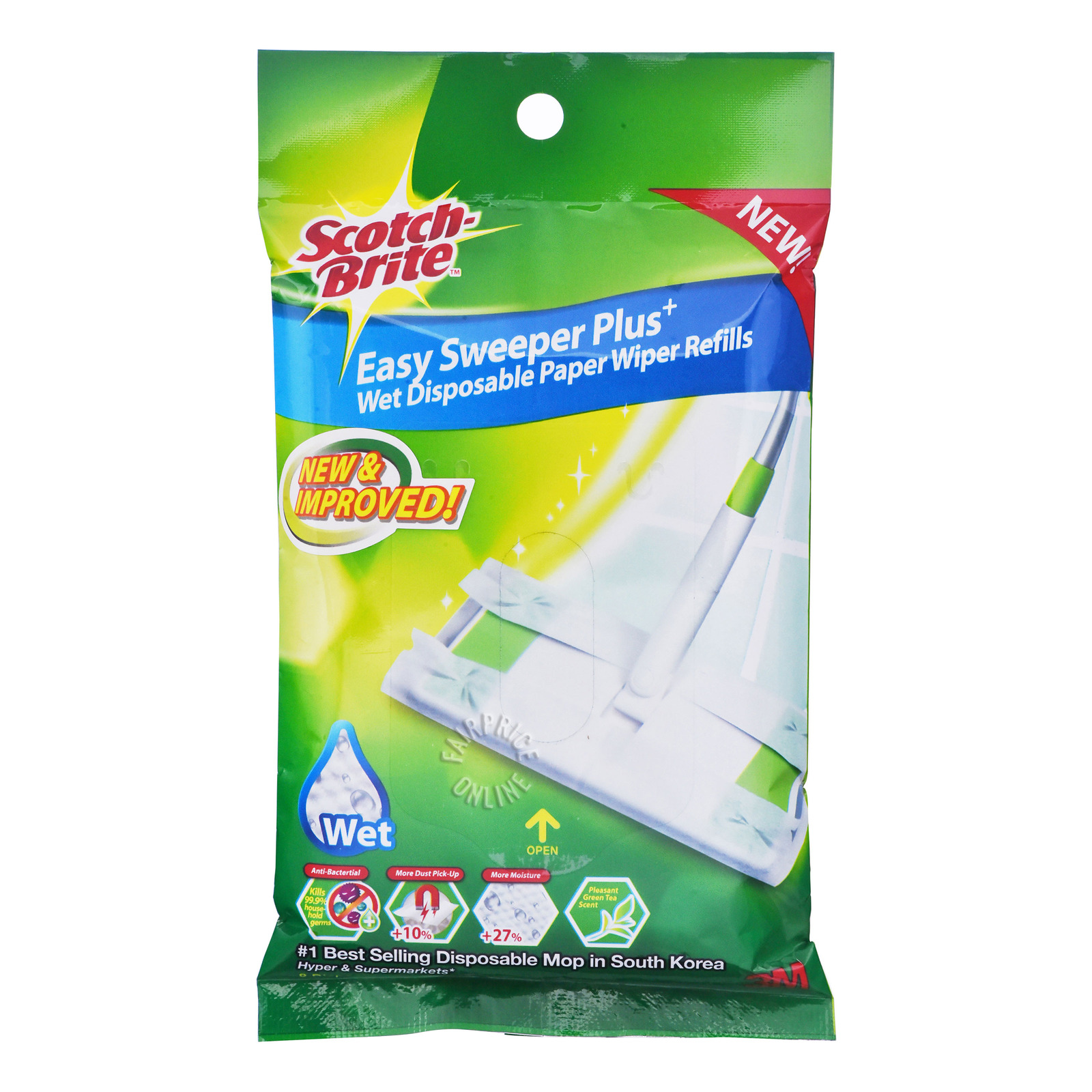 3M Scotch-Brite Anti Bact Wiper-EasySweeperPlus(Wet)