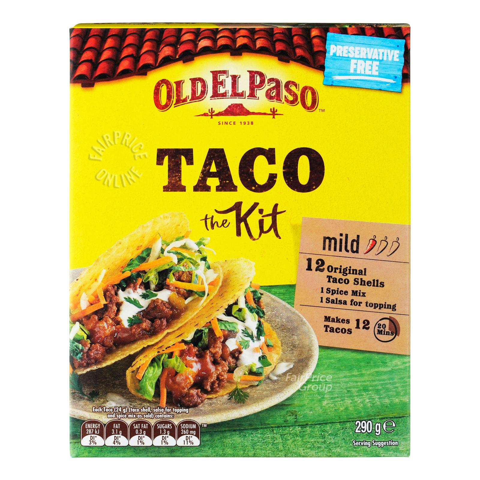 Old El Paso Taco Kit Mild Spicy Ntuc Fairprice