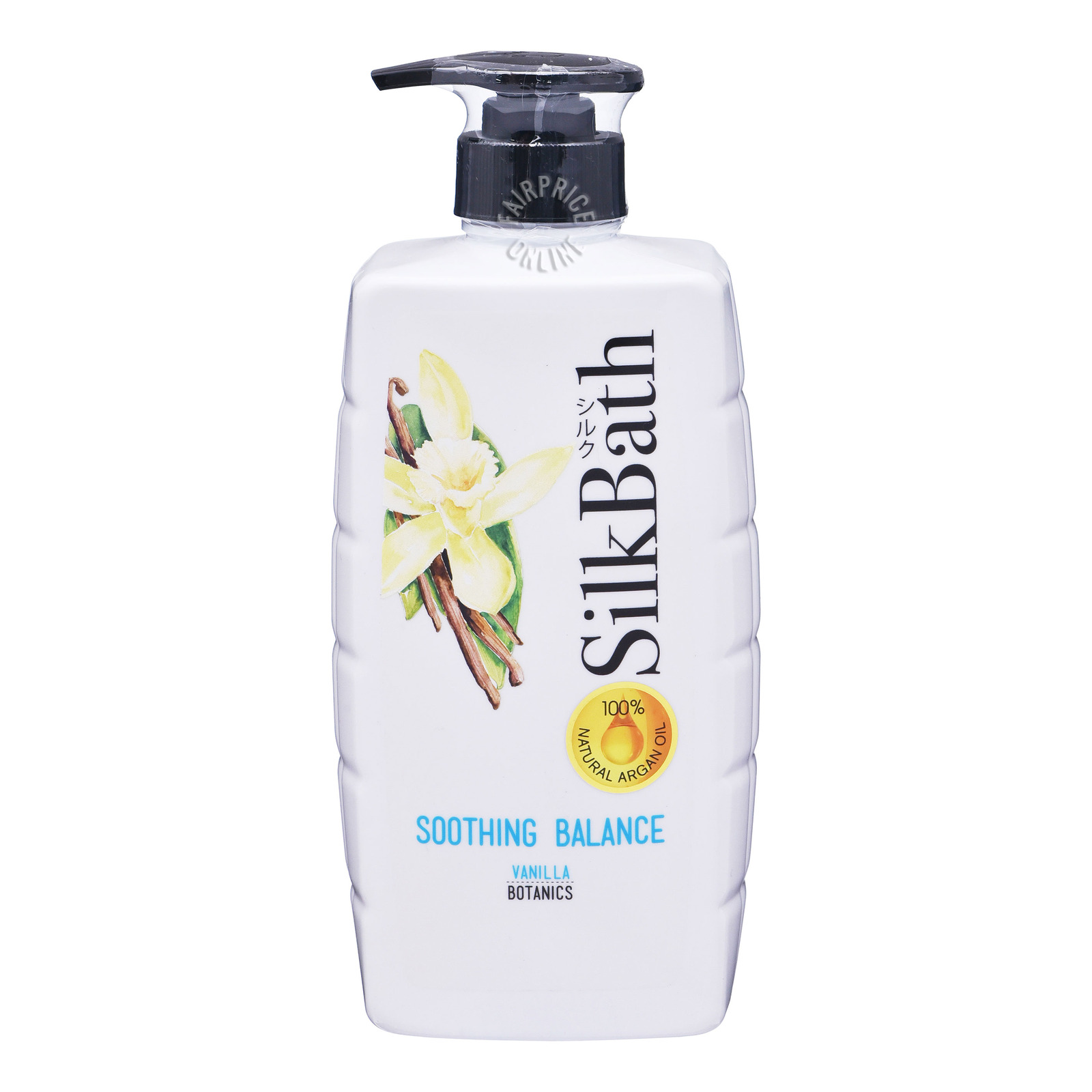 SILKPRO silk bath soothing balance with vanilla 750ml