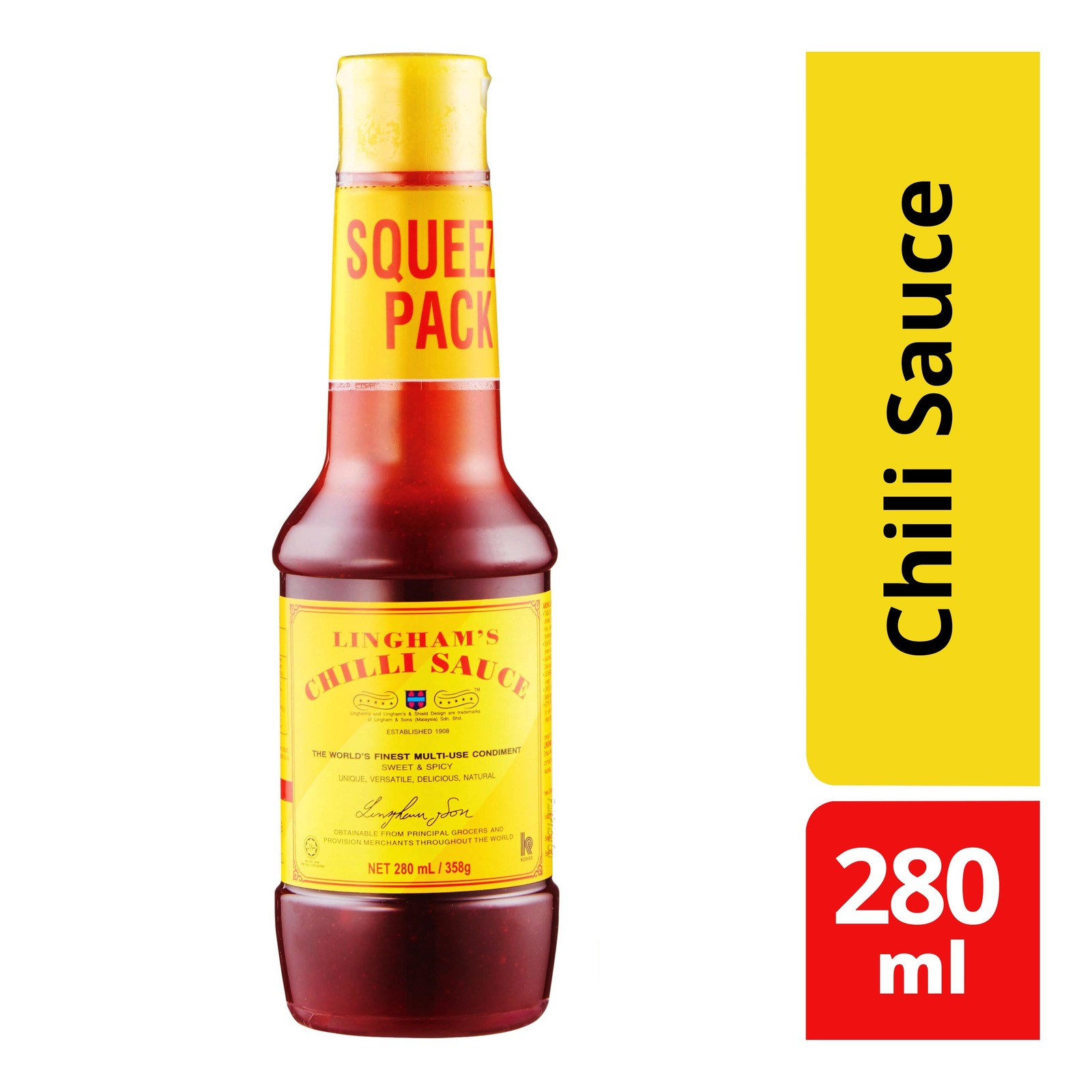 Download Lingham S Chili Sauce Squeeze Bottle Ntuc Fairprice PSD Mockup Templates