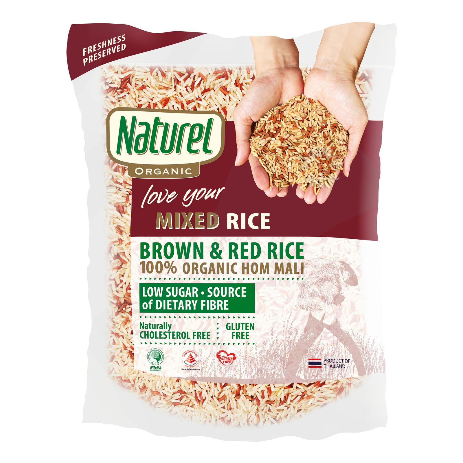 Naturel Organic Rice - Mixed Brown and Red