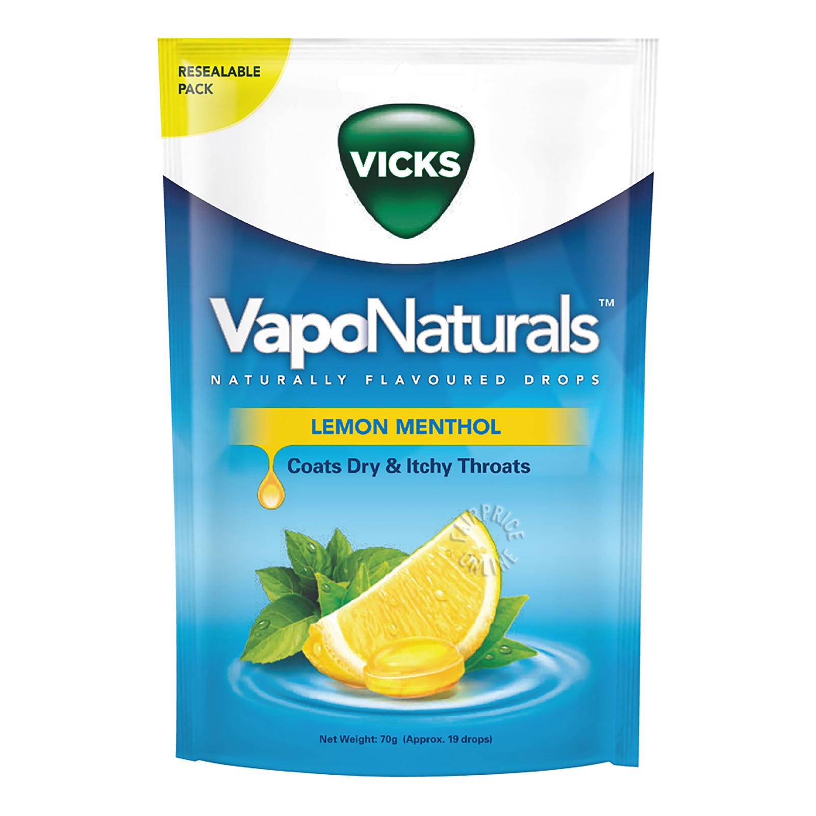 Vicks VapoNaturals Drops - Lemon Menthol