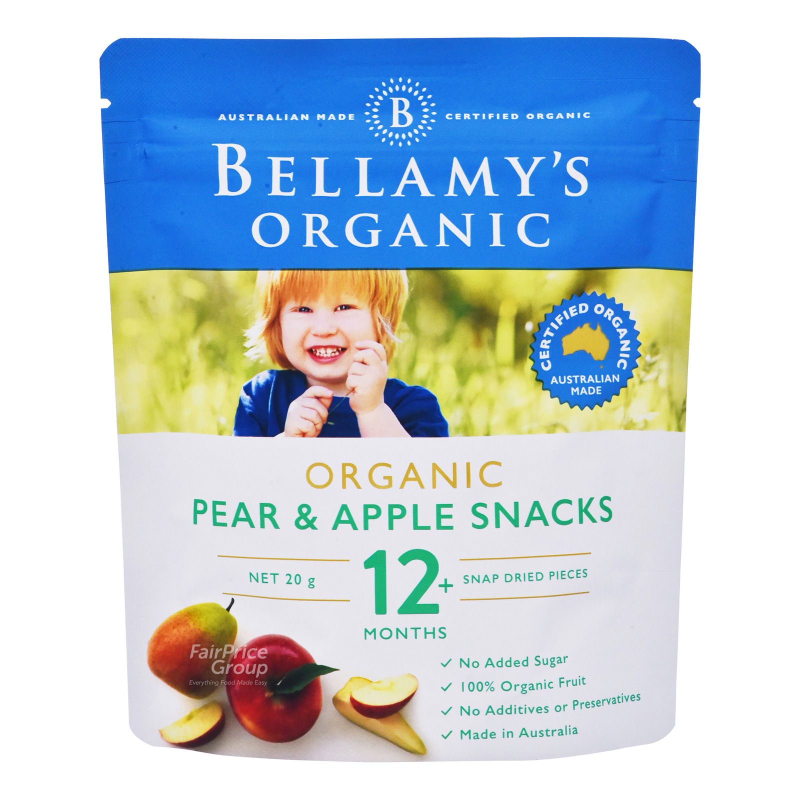 Bellamy's Organic Baby Snack - Pear & Apple