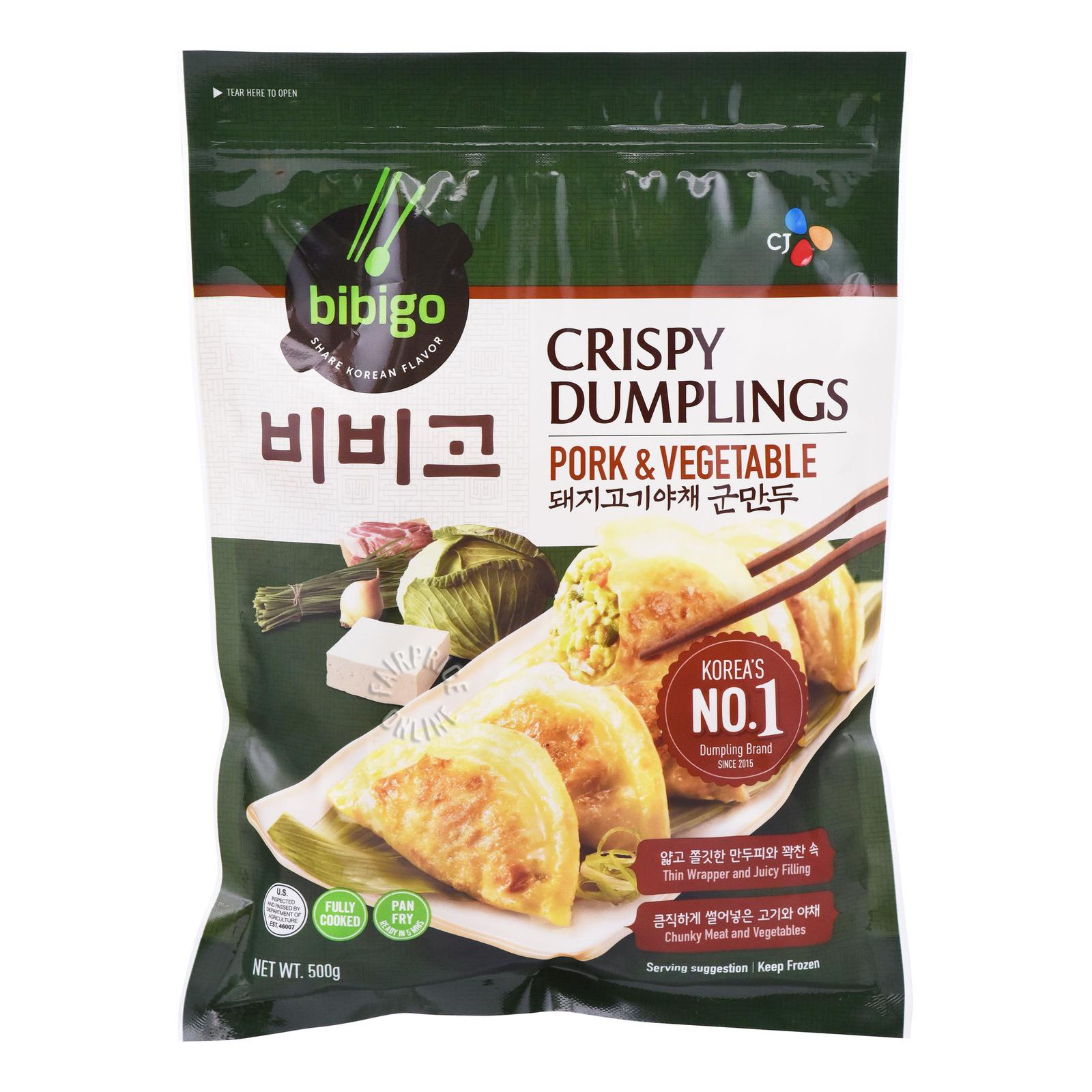 CJ Bibigo Frozen Crispy Dumplings - Pork & Vegetables