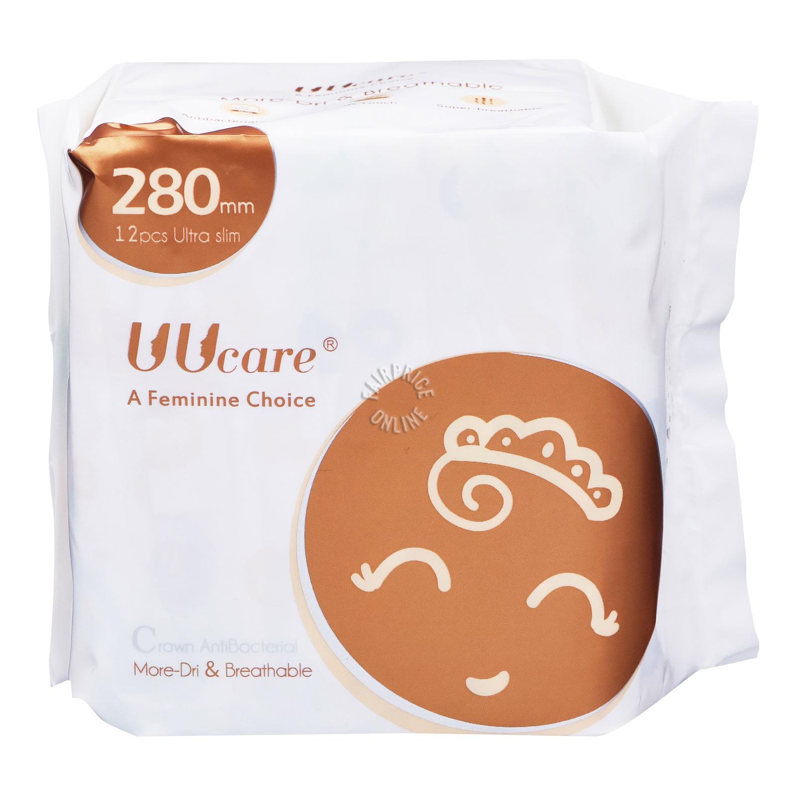 UU Care Crown Antibacterial Sanitary Wing Pads - 28cm