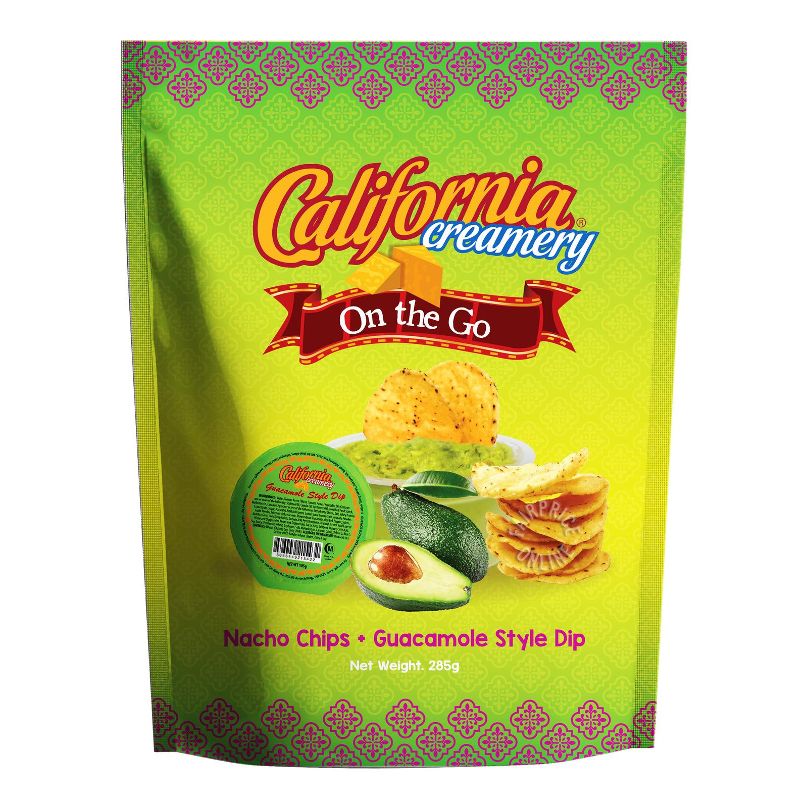 California Creamery Tortilla Chips - Guacamole Dip