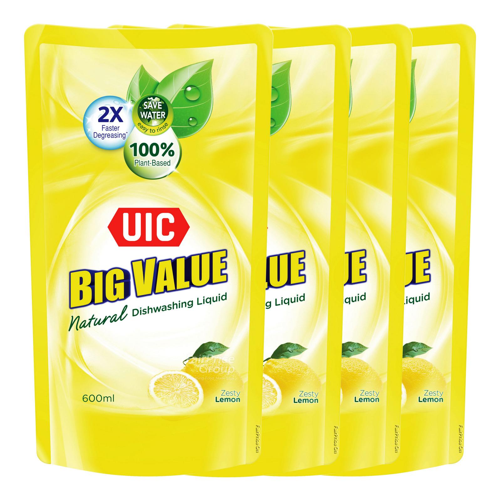 #UIC Big Value Dishwashing Liquid Refill - Lemon