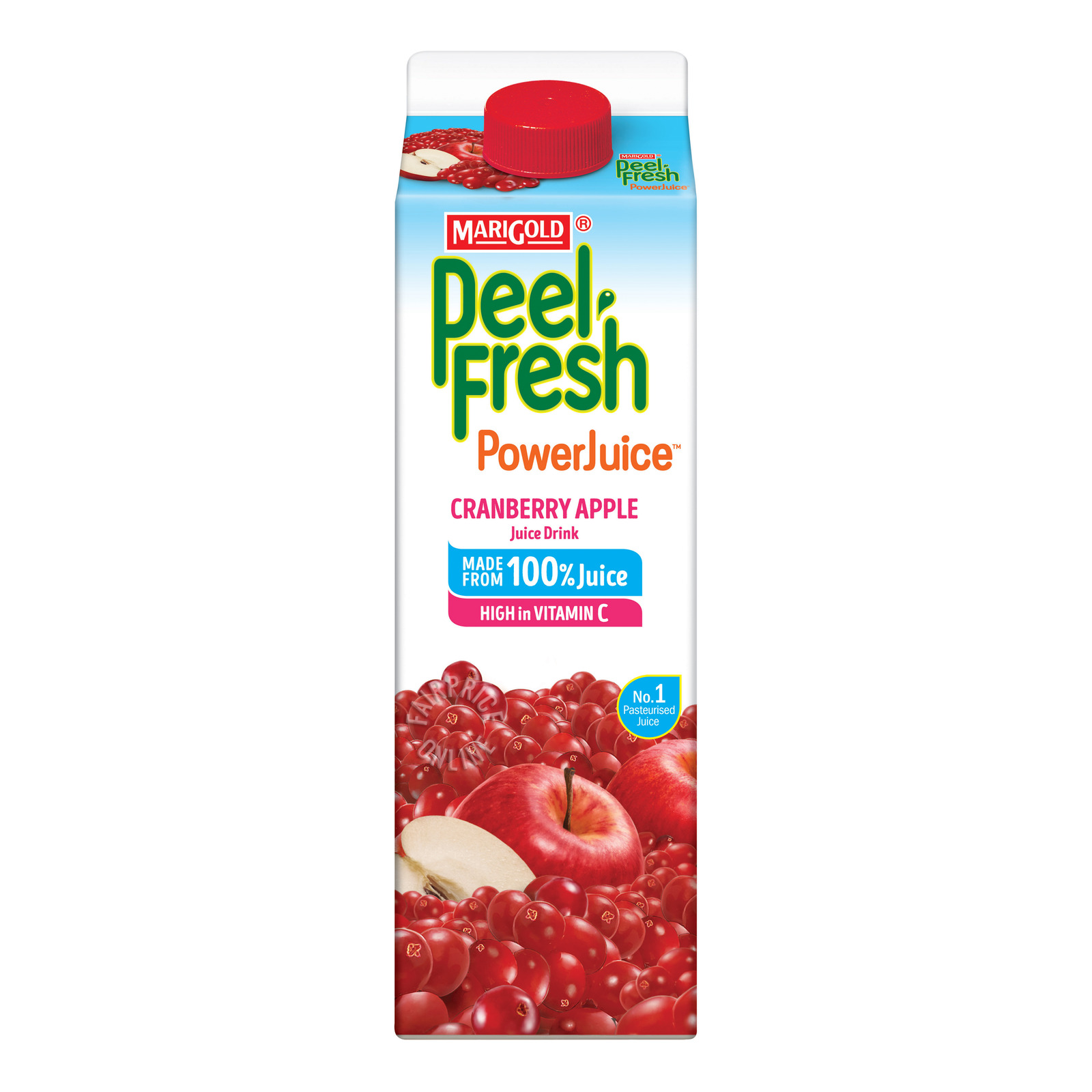 Marigold Peel Fresh Juice - Cranberry Apple (No Sugar)