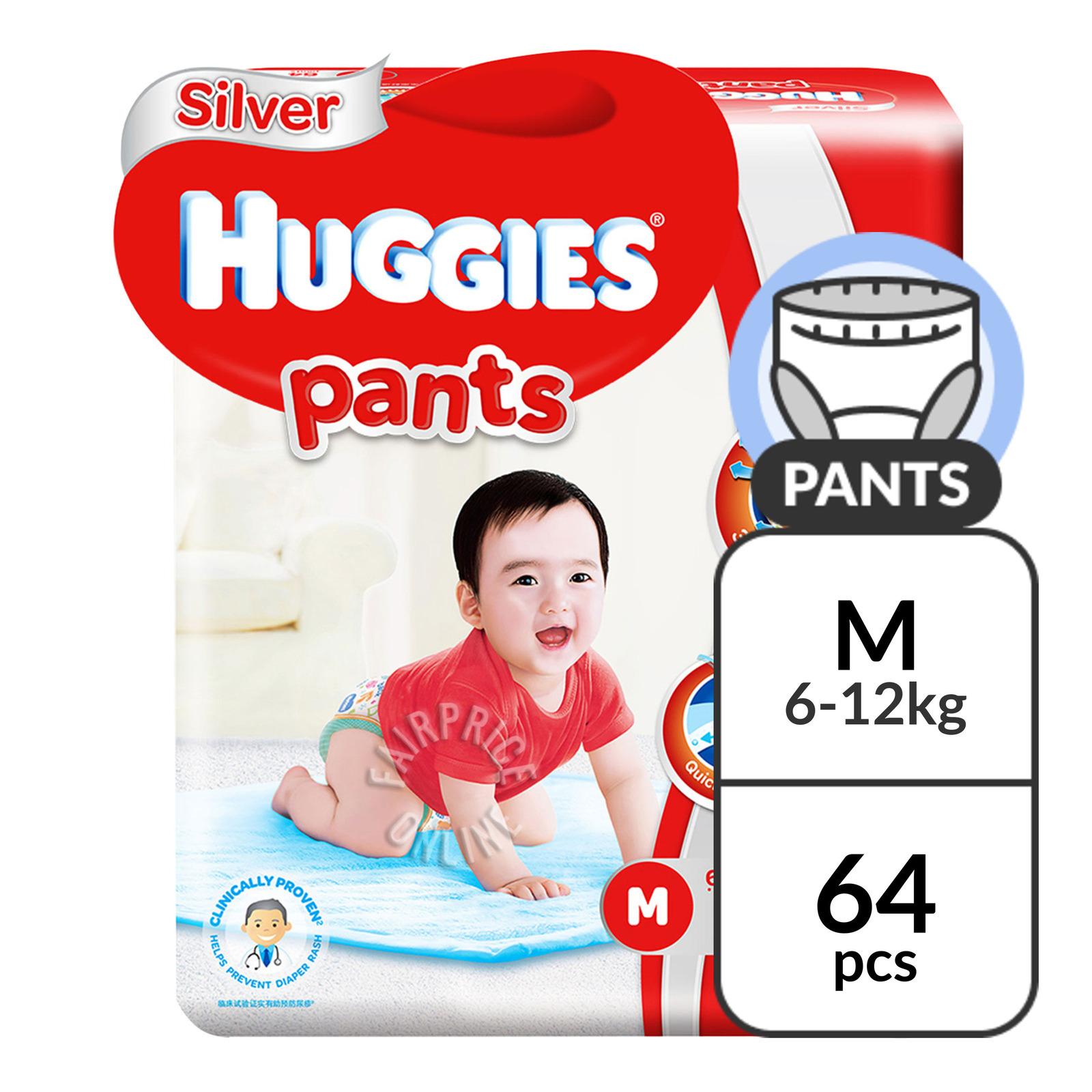 Huggies Silver Pants - M (6 - 12kg)