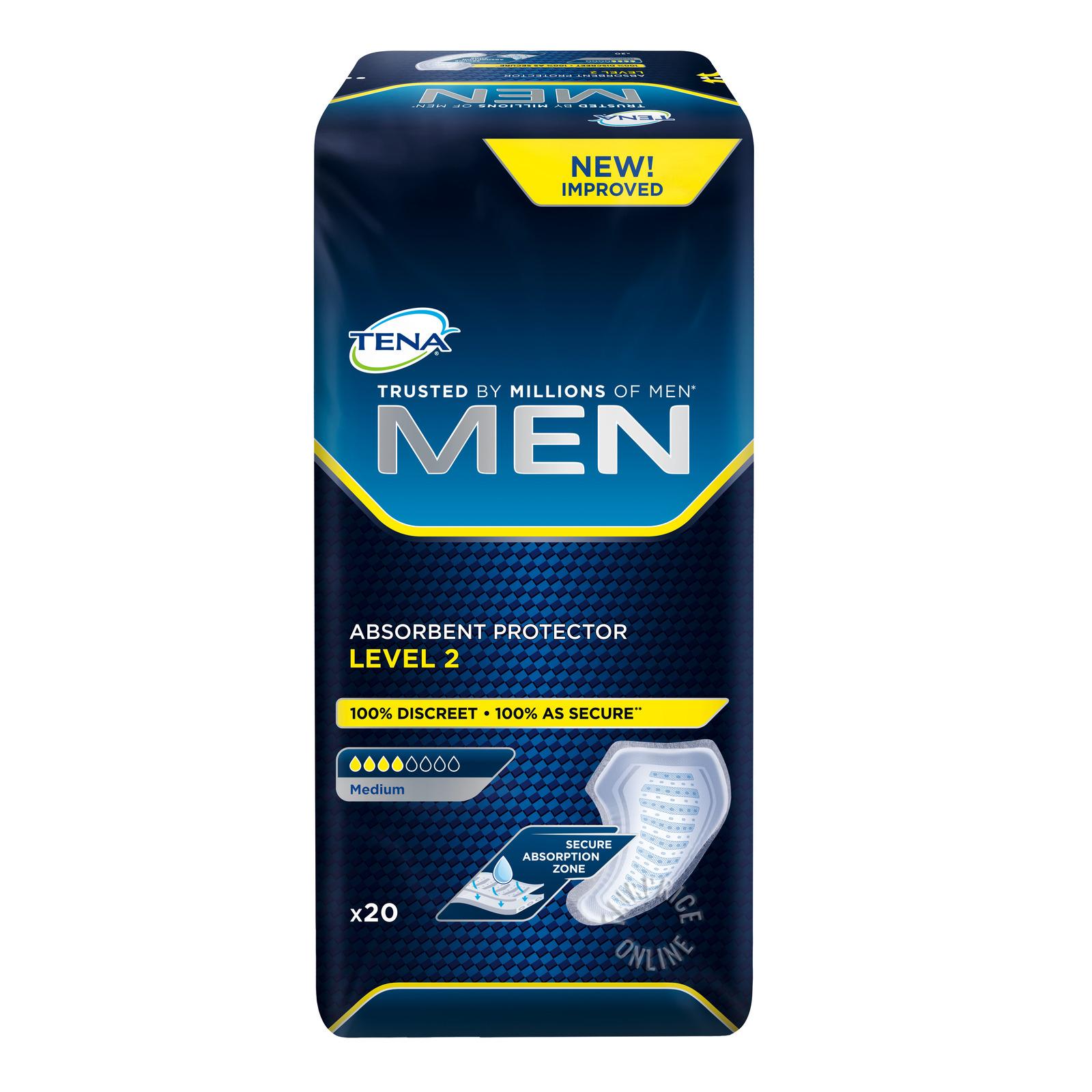 TENA Men Absorbant Protector Pads - Level 2 (M)