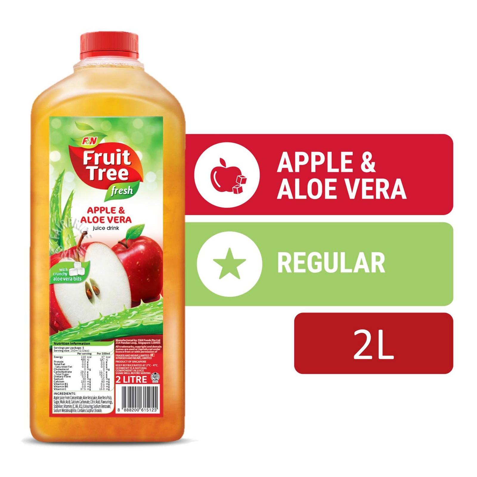 F&N Fruit Tree Fresh Juice - Apple & Aloe Vera