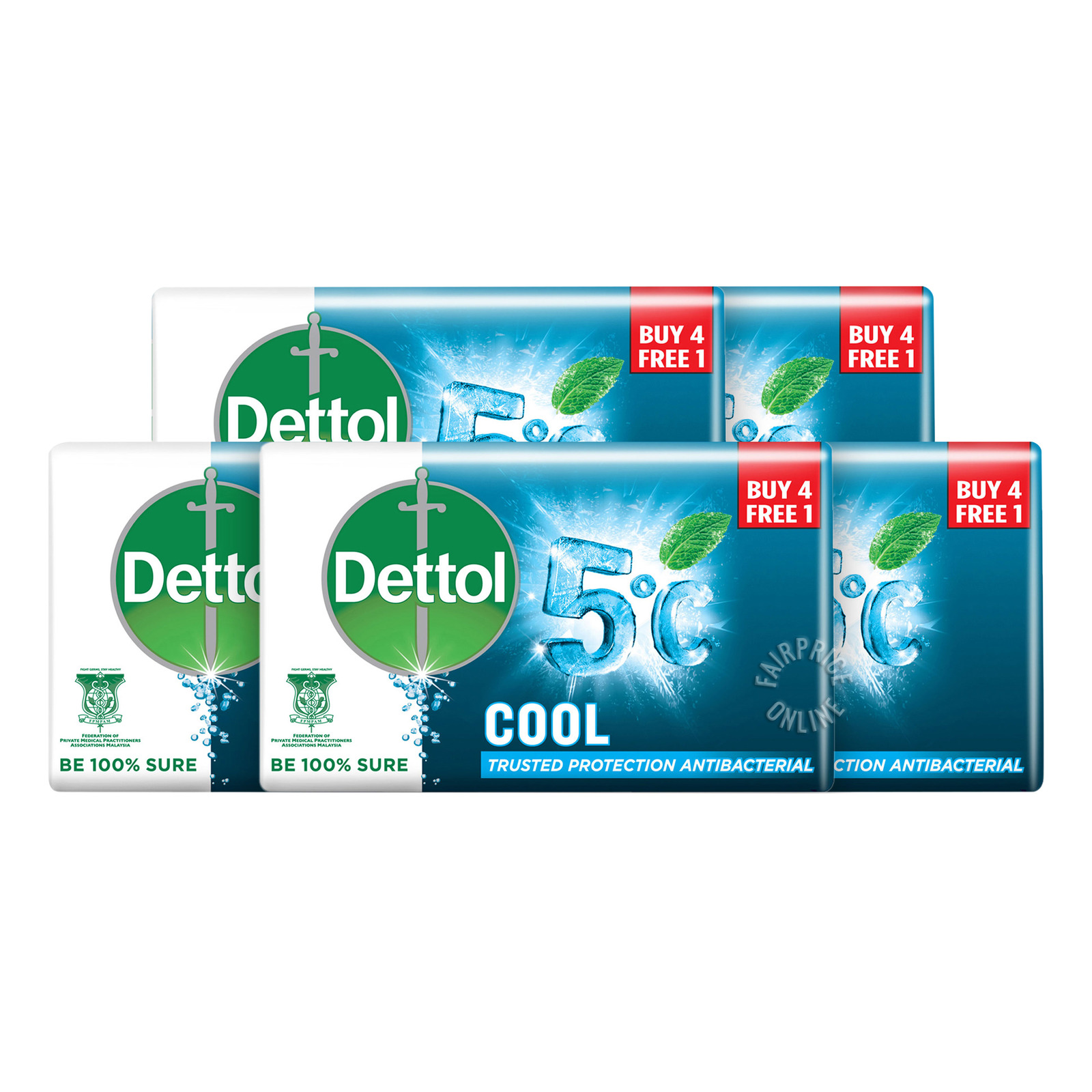 Dettol Anti-Bacterial Bar Soap - Cool