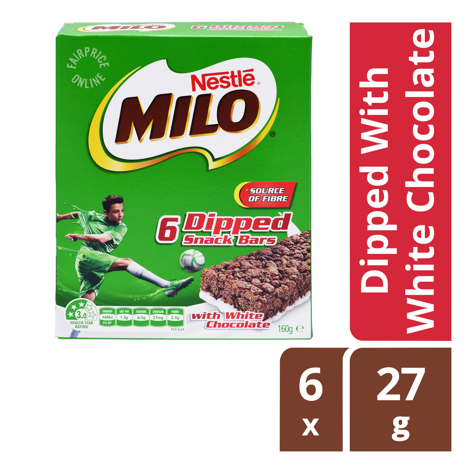 MILO Energy Snack Bar Dipped with White Chocolate