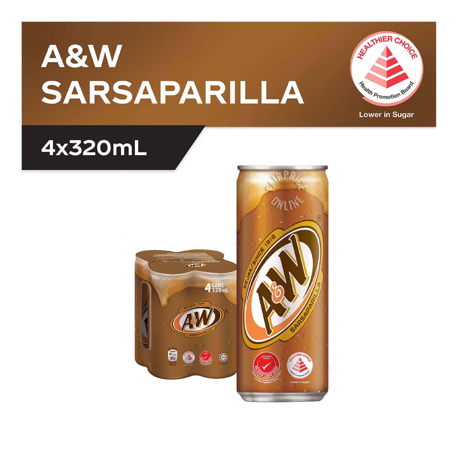 A&W Can Drink - Sarsaparilla Root Beer