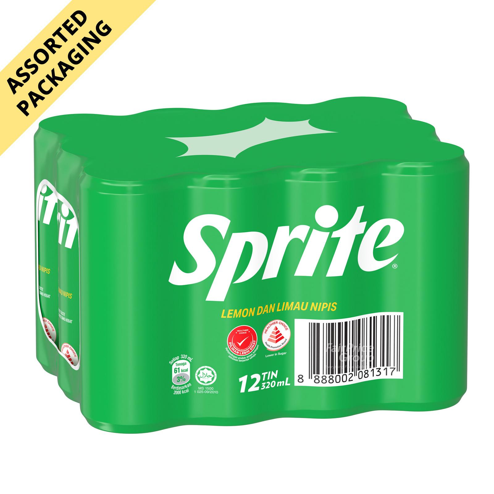 Sprite Sparkling Lemon Lime Can Drink