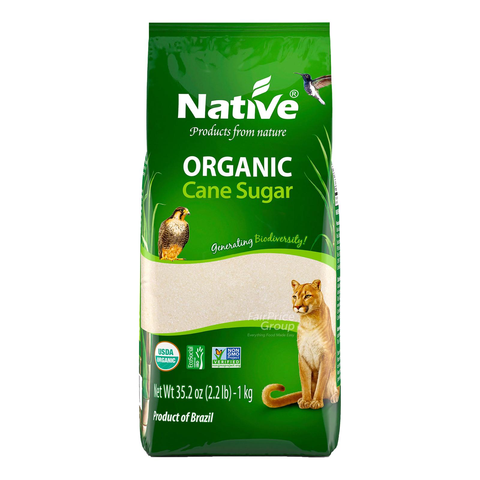 Native Organic Sugar - White Crystal Cane