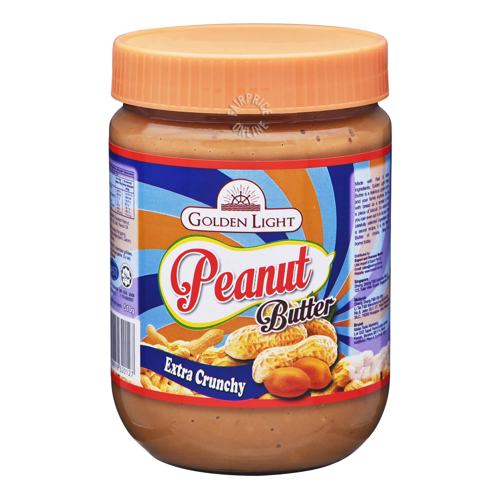 Golden Light Peanut Butter Spread - Extra Crunchy