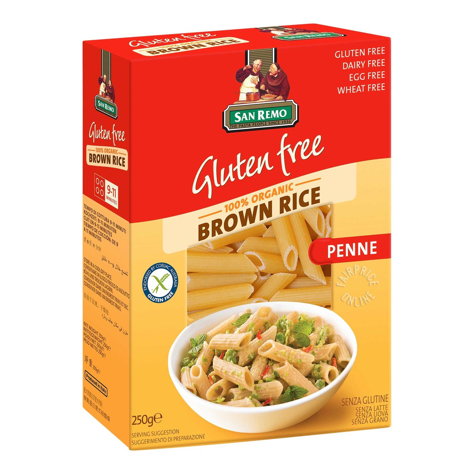 San Remo Organic Brown Rice Pasta - Penne