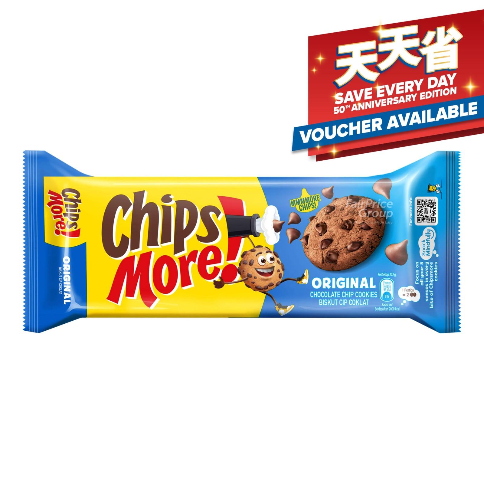CHIPSMORE Chocolate Chip Cookies - Original 163.2g