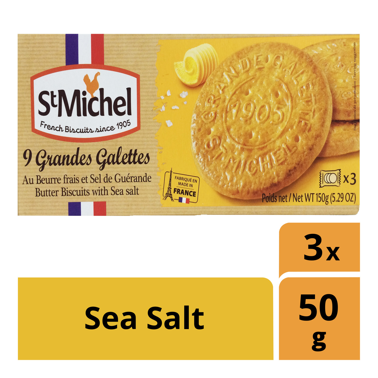 St Michel French Butter Biscuits - Sea Salt