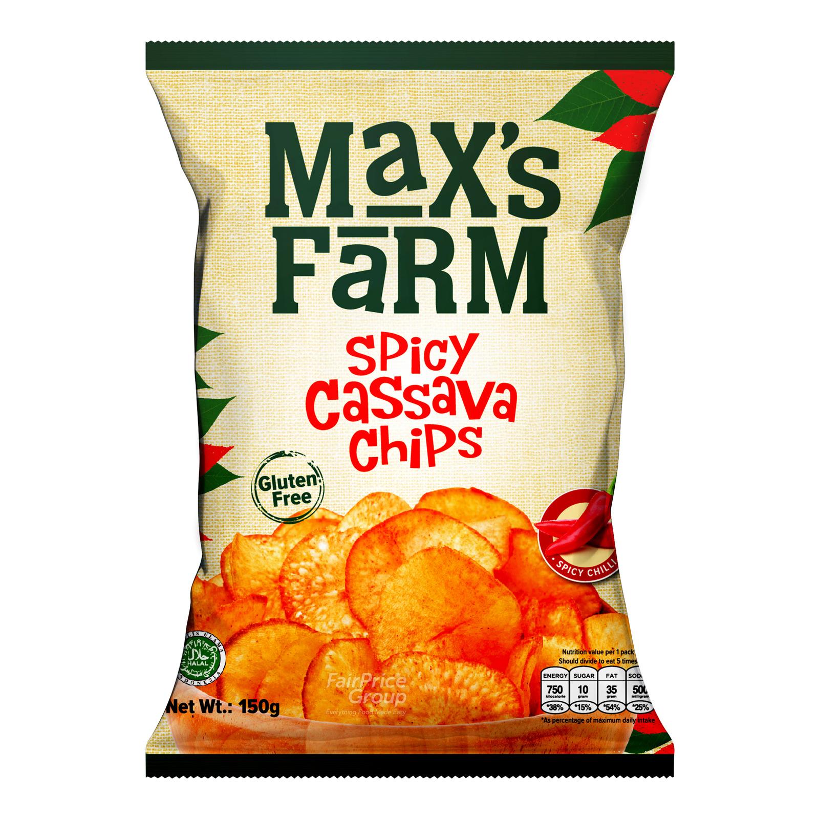 Max's Farm Cassava Chips - Spicy