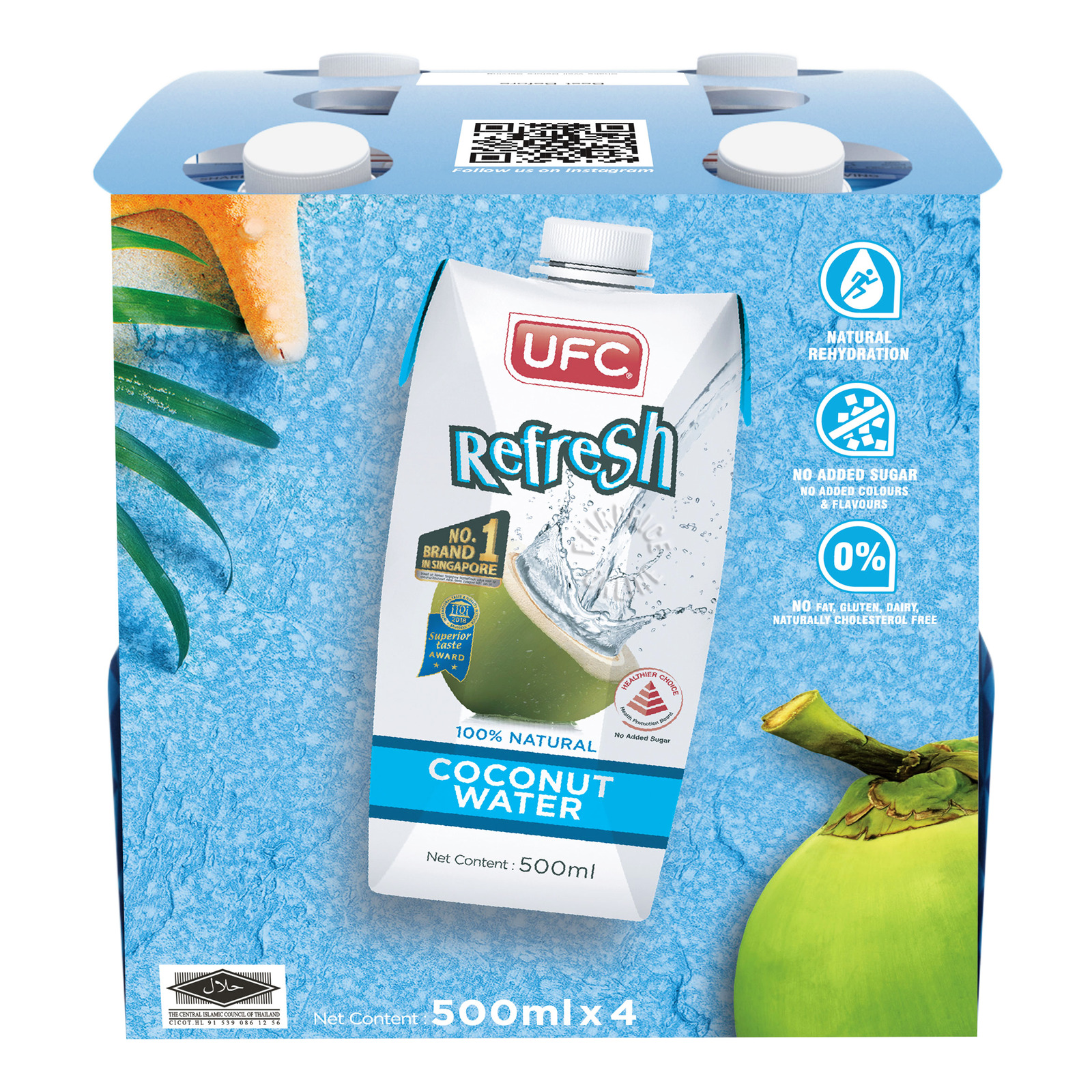 UFC Refresh 100% Natural Coconut Water
